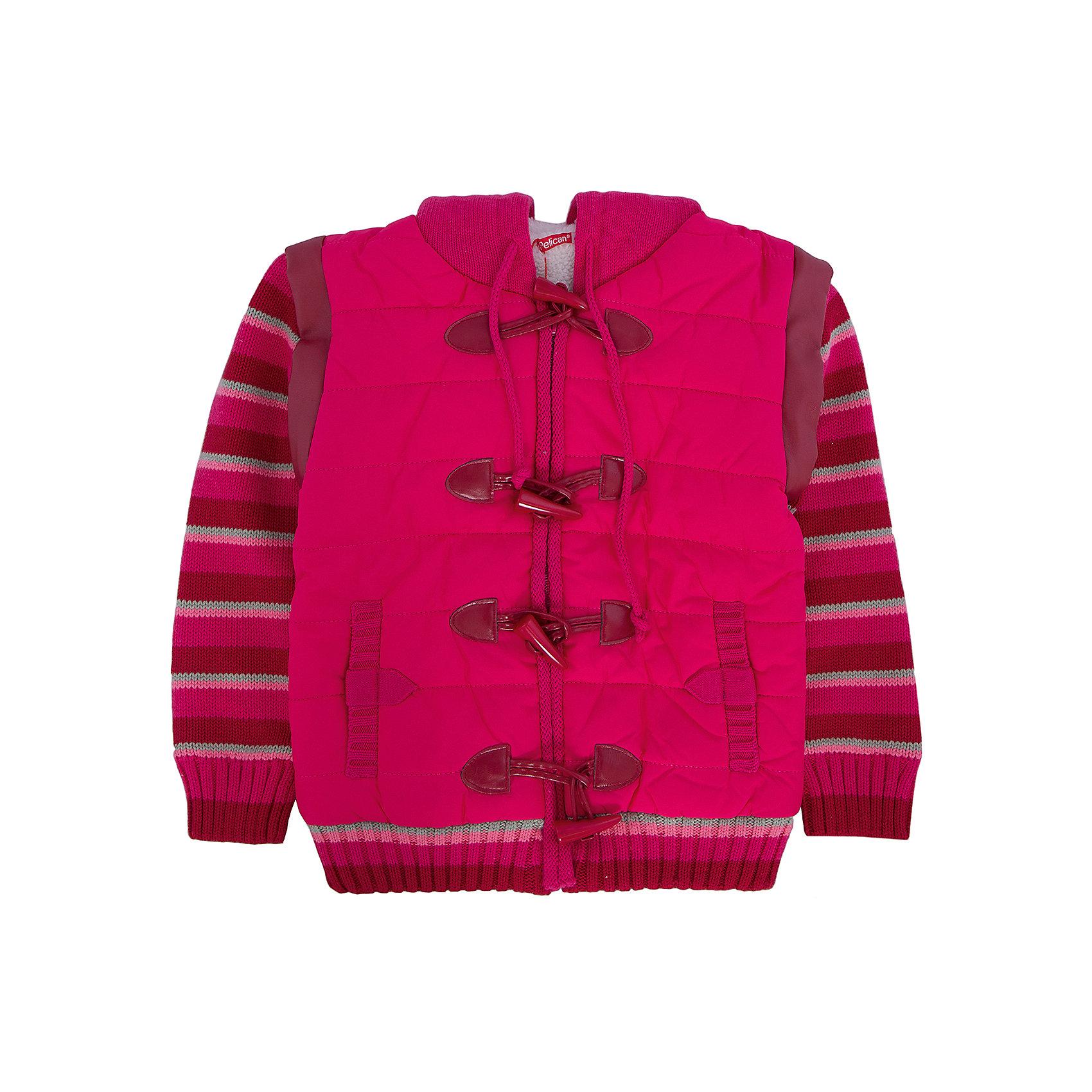 PELICAN Куртка для девочки PELICAN pelican для девочки ванильное утро розовый