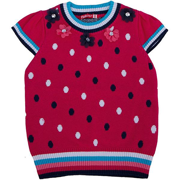 Футболка для девочки PELICANФутболки, поло и топы<br>Оригинальная удобная футболка для девочки поможет разнообразить гардероб ребенка, создать легкий подходящий погоде ансамбль. Удобный крой и качественный материал обеспечат ребенку комфорт при ношении этих вещей. <br>Футболка очень стильно смотрится благодаря актуальному дизайну. Изделие украшено текстильными цветами и стразами, силуэт удлиненный, внизу  - резинка. Материал - легкая, но прочная, пряжа из натурального хлопка, отлично подходит для детской одежды. <br><br>Дополнительная информация:<br><br>материал: 100% хлопок;<br>цвет: разноцветный;<br>аппликация, стразы;<br>силуэт объемный, удлиненный.<br><br>Футболку для девочки от бренда PELICAN (Пеликан) можно купить в нашем магазине.<br><br>Ширина мм: 199<br>Глубина мм: 10<br>Высота мм: 161<br>Вес г: 151<br>Цвет: красный<br>Возраст от месяцев: 18<br>Возраст до месяцев: 24<br>Пол: Женский<br>Возраст: Детский<br>Размер: 104,110,98,92<br>SKU: 4805090