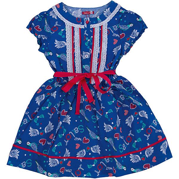 Платье для девочки PELICANПлатья и сарафаны<br>Легкое платье для девочки смотрится очень нарядно. Оно поможет разнообразить гардероб ребенка, создать подходящий погоде ансамбль. Удобный крой и качественный материал обеспечат ребенку комфорт при ношении этих вещей. <br>Платье декорировано ярким принтом и кружевами. Рукава короткие. Пояс обработан контрастной тканью. Материал платья состоит из дышащего натурального хлопка, гипоаллергенного, отлично подходящего для детской одежды. <br><br>Дополнительная информация:<br><br>материал: 100% хлопок;<br>цвет: синий;<br>кружева;<br>рукава короткие.<br><br>Платье для девочки от бренда PELICAN (Пеликан) можно купить в нашем магазине.<br><br>Ширина мм: 236<br>Глубина мм: 16<br>Высота мм: 184<br>Вес г: 177<br>Цвет: синий<br>Возраст от месяцев: 24<br>Возраст до месяцев: 36<br>Пол: Женский<br>Возраст: Детский<br>Размер: 98,110,104,116<br>SKU: 4805174