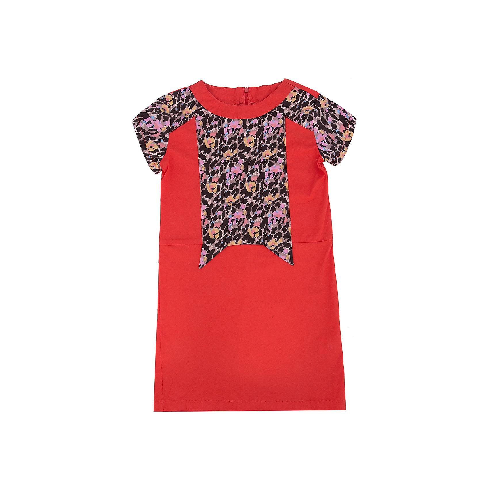 Платье для девочки PELICANОчень модное платье для девочки смотрится оригинально и нарядно. Оно поможет разнообразить гардероб ребенка, создать подходящий погоде ансамбль. Удобный крой и качественный материал обеспечат ребенку комфорт при ношении этих вещей. <br>Платье декорировано вставками со звериным принтом. Рукава короткие. На спине - молния. Материал платья преимущественно состоит из дышащего натурального хлопка, гипоаллергенного, отлично подходящего для детской одежды. <br><br>Дополнительная информация:<br><br>материал: 93% хлопок, 7% эластан;<br>цвет: разноцветный;<br>молния на спине;<br>декорировано вставками с принтом.<br><br>Платье для девочки от бренда PELICAN (Пеликан) можно купить в нашем магазине.<br><br>Ширина мм: 236<br>Глубина мм: 16<br>Высота мм: 184<br>Вес г: 177<br>Цвет: красный<br>Возраст от месяцев: 96<br>Возраст до месяцев: 108<br>Пол: Женский<br>Возраст: Детский<br>Размер: 134,146,140,122,128<br>SKU: 4805184