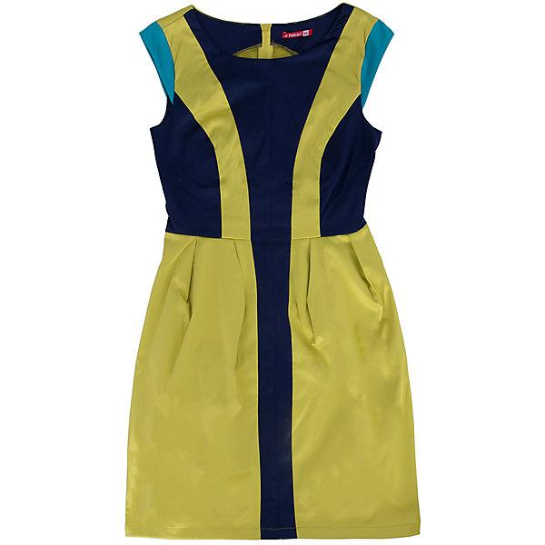 Платье для девочки PELICANПлатья и сарафаны<br>Блестящее модное платье для девочки смотрится оригинально и нарядно. Оно поможет разнообразить гардероб ребенка, создать подходящий погоде ансамбль. Удобный крой и качественный материал обеспечат ребенку комфорт при ношении этого изделия. <br>Платье декорировано цветными вставками из такой же ткани с атласным блеском. Рукава короткие. На спине - молния. Материал платья частично состоит из дышащего натурального хлопка, гипоаллергенного, отлично подходящего для детской одежды. <br><br>Дополнительная информация:<br><br>материал: 55% полиэстер, 42% хлопок, 3% эластан;<br>цвет: желтый;<br>молния на спине;<br>декорировано контрастными вставками.<br><br>Платье для девочки от бренда PELICAN (Пеликан) можно купить в нашем магазине.<br><br>Ширина мм: 236<br>Глубина мм: 16<br>Высота мм: 184<br>Вес г: 177<br>Цвет: желтый<br>Возраст от месяцев: 132<br>Возраст до месяцев: 144<br>Пол: Женский<br>Возраст: Детский<br>Размер: 152,164,158<br>SKU: 4805190