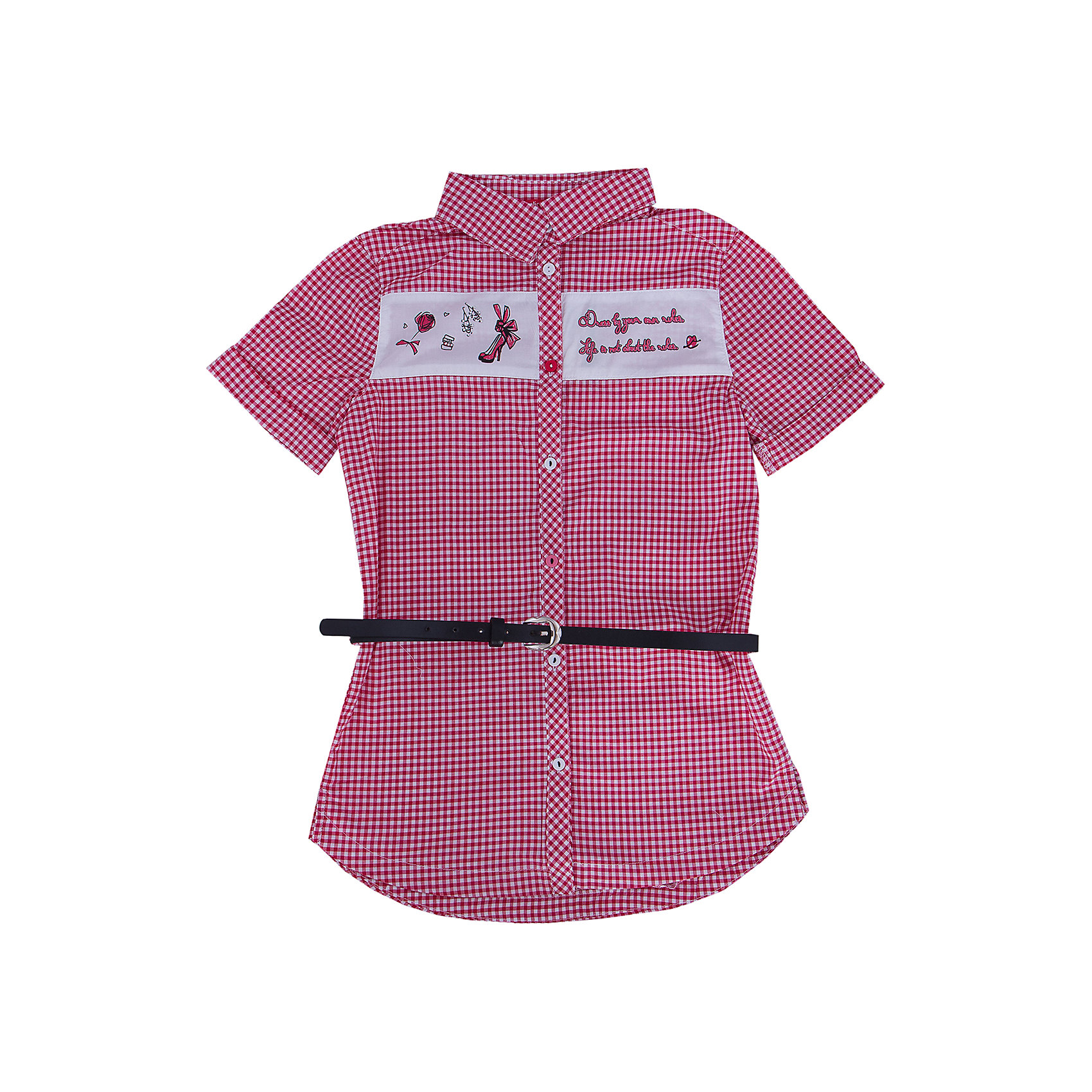 Блузка для девочки PELICANБлузки и рубашки<br>Модная удобная блузка для девочки поможет разнообразить гардероб ребенка, создать легкий подходящий погоде ансамбль. Удобный крой и качественный материал обеспечат ребенку комфорт при ношении этого изделия. <br>Блузка очень симпатично смотрится благодаря актуальному дизайну и удлиненному силуэту. Изделие украшено вставкой с принтом и стразами. Рукава - короткие. Материал - легкий, отлично подходит для лета, состоит из дышащего натурального хлопка. Очень приятен на ощупь, не вызывает аллергии. В комплекте  - стильный ремешок из искусственной кожи.<br><br>Дополнительная информация:<br><br>материал: 100% хлопок;<br>цвет: в клетку;<br>принт и стразы;<br>ремешок из искусственной кожи;<br>рукава короткие.<br><br>Блузку для девочки от бренда PELICAN (Пеликан) можно купить в нашем магазине.<br><br>Ширина мм: 186<br>Глубина мм: 87<br>Высота мм: 198<br>Вес г: 197<br>Цвет: розовый<br>Возраст от месяцев: 84<br>Возраст до месяцев: 96<br>Пол: Женский<br>Возраст: Детский<br>Размер: 128,122,146,140,134<br>SKU: 4805203