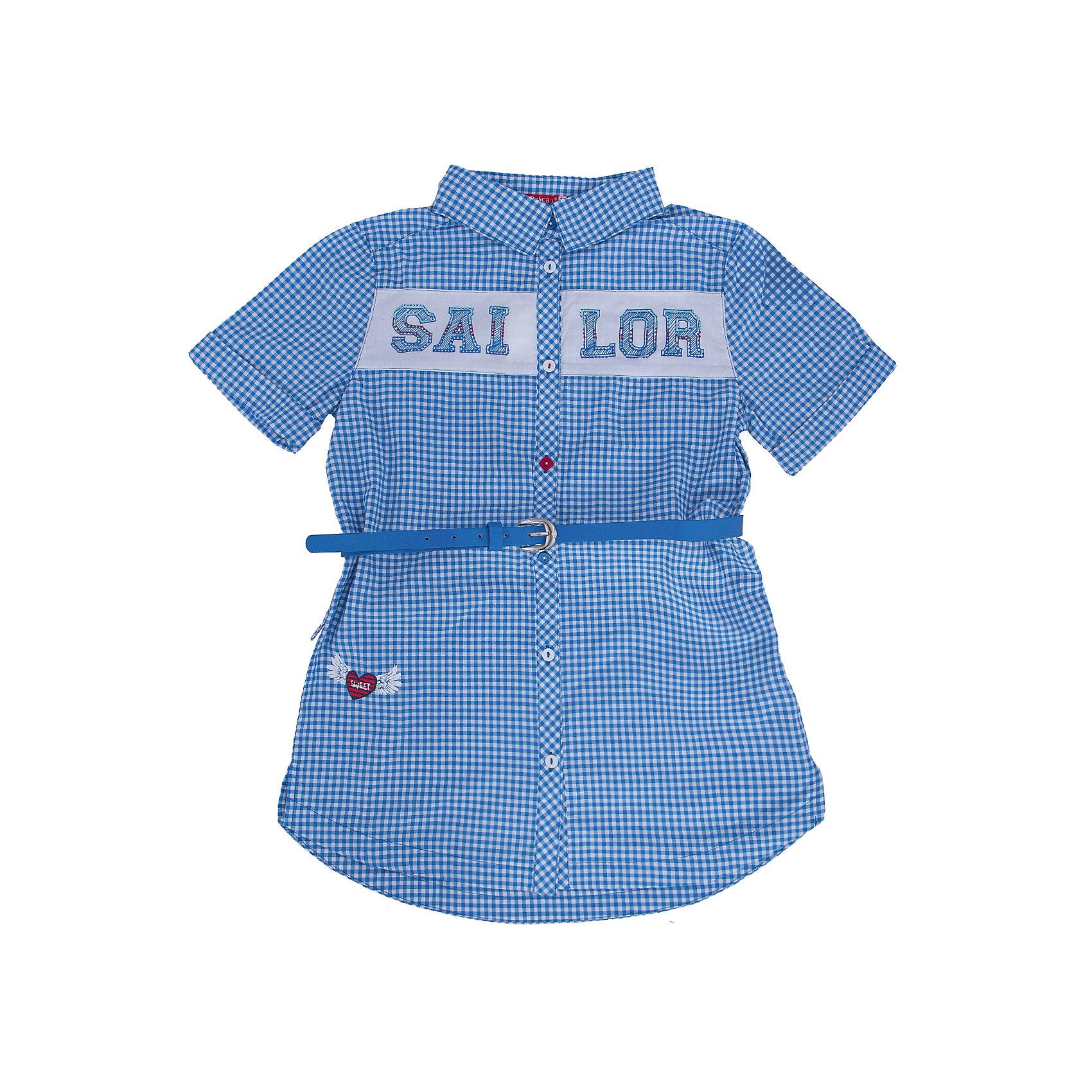 Блузка для девочки PELICANБлузки и рубашки<br>Модная удобная блузка для девочки поможет разнообразить гардероб ребенка, создать легкий подходящий погоде ансамбль. Удобный крой и качественный материал обеспечат ребенку комфорт при ношении этого изделия. <br>Блузка очень симпатично смотрится благодаря актуальному дизайну и удлиненному силуэту. Изделие украшено вставкой с принтом и стразами. Рукава - короткие. Материал - легкий, отлично подходит для лета, состоит из дышащего натурального хлопка. Очень приятен на ощупь, не вызывает аллергии. В комплекте  - стильный ремешок из искусственной кожи.<br><br>Дополнительная информация:<br><br>материал: 100% хлопок;<br>цвет: в клетку;<br>принт и стразы;<br>ремешок из искусственной кожи;<br>рукава короткие.<br><br>Блузку для девочки от бренда PELICAN (Пеликан) можно купить в нашем магазине.<br><br>Ширина мм: 186<br>Глубина мм: 87<br>Высота мм: 198<br>Вес г: 197<br>Цвет: синий<br>Возраст от месяцев: 108<br>Возраст до месяцев: 120<br>Пол: Женский<br>Возраст: Детский<br>Размер: 140,134,128,122,146<br>SKU: 4805209
