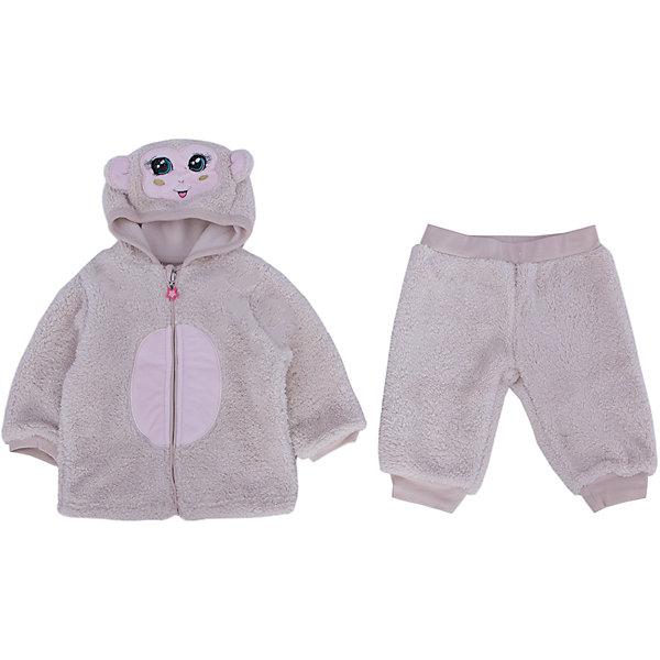 Комплект: куртка и брюки  PELICANКомплекты<br>Теплый симпатичный комплект состоит из куртки и брюк. Изделия помогут обеспечить малышу удобство и тепло. Удобный крой и качественный материал обеспечат ребенку комфорт при ношении этих вещей. <br>Капюшон курточки украшен забавным принтом в виде мордочки обезьяны. Она застегивается с помощью молнии. На брюках - вышивка в виде звездочки. Комплект из двусторонней ткани: внутри мягкий флис, снаружи - теплый приятный искусственный мех.<br><br>Дополнительная информация:<br><br>материал: 100% полиэстер;<br>застежка - молния;<br>капюшон;<br>декорирован принтом.<br><br>Комплект от бренда PELICAN (Пеликан) можно купить в нашем магазине.<br>Ширина мм: 157; Глубина мм: 13; Высота мм: 119; Вес г: 200; Цвет: бежевый; Возраст от месяцев: 3; Возраст до месяцев: 6; Пол: Унисекс; Возраст: Детский; Размер: 68,74,80; SKU: 4805249;