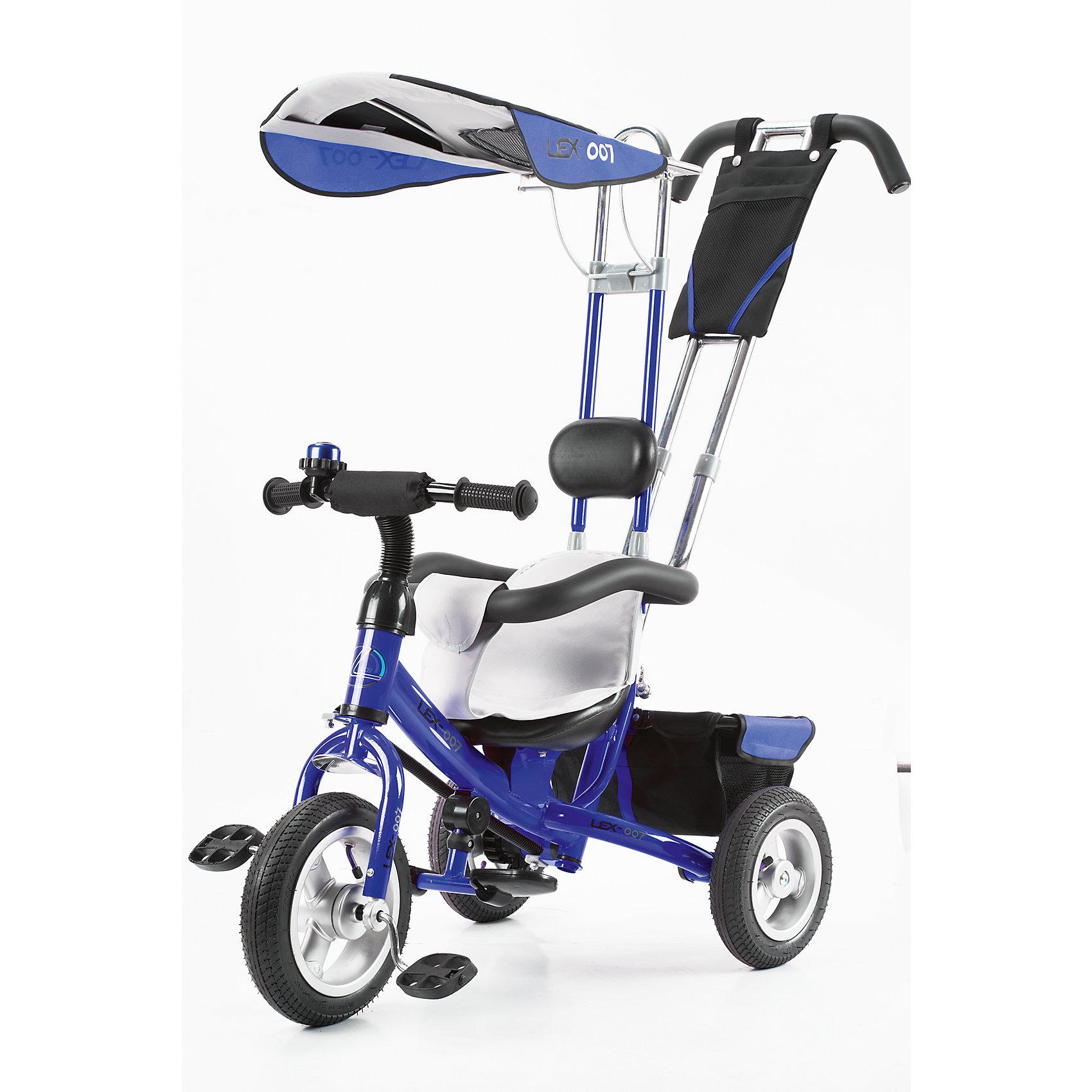 - Трехколесный велосипед, VipLex, синий велосипед geuther велосипед sportsbike синий