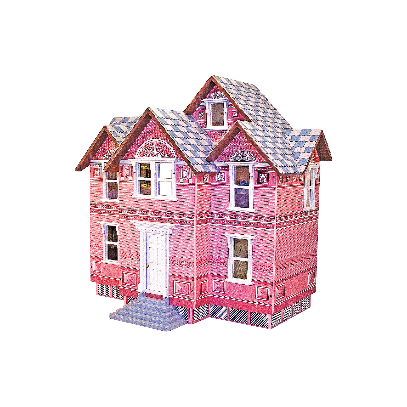 Викторианский дом для кукол, Melissa&amp;DougВеликолепный Кукольный домик выполнен в Викторианском стиле, что позволит перенестись в сказочный мир принцесс того времени. В деревянном домике есть целых 5 комнат, и три этажа. Каждая комната оформлена в своем стиле. Домик сделан из натурального дерева покрыт нетоксичной и безопасной краской. Кукольный домик станет прекрасной игрушкой для девочки.<br><br>Ширина мм: 460<br>Глубина мм: 300<br>Высота мм: 710<br>Вес г: 19505<br>Возраст от месяцев: 60<br>Возраст до месяцев: 192<br>Пол: Женский<br>Возраст: Детский<br>SKU: 4807389