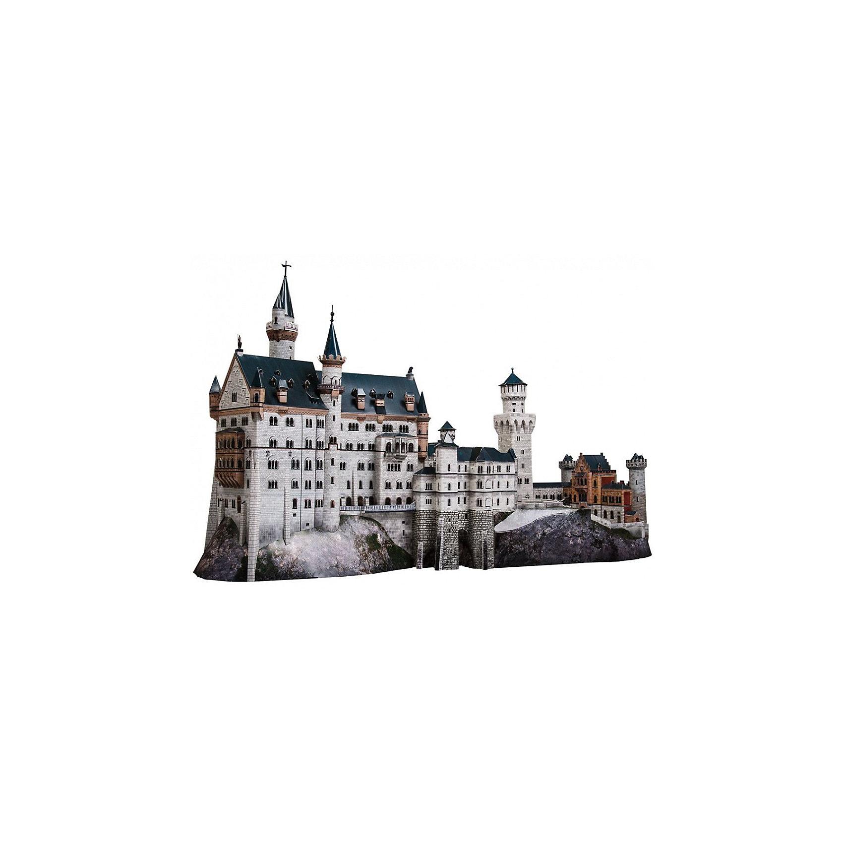 Сборная модель Замок NeuschwansteinЗамок Neuschwanstein - cборная модель из картона. Серия: Масштабные модели. Количество деталей, шт: 359. Размер в собранном виде, см: 64 х 36 х 24. Размер упаковки, мм.:  высота 368 ширина 252 глубина 23. Тип упаковки: Картонная коробка. Вес, гр.: 556. Возраст: от 12 лет. Все модели и игрушки, созданные по технологии УМНАЯ БУМАГА собираются без ножниц и клея, что является их неповторимой особенностью.<br>Принцип соединения деталей запатентован. Соединения деталей продуманы и просчитаны с такой точностью, что при правильной сборке с моделью можно играть, как с обычной игрушкой.<br><br>Ширина мм: 252<br>Глубина мм: 23<br>Высота мм: 368<br>Вес г: 556<br>Возраст от месяцев: 144<br>Возраст до месяцев: 2147483647<br>Пол: Унисекс<br>Возраст: Детский<br>SKU: 4807398