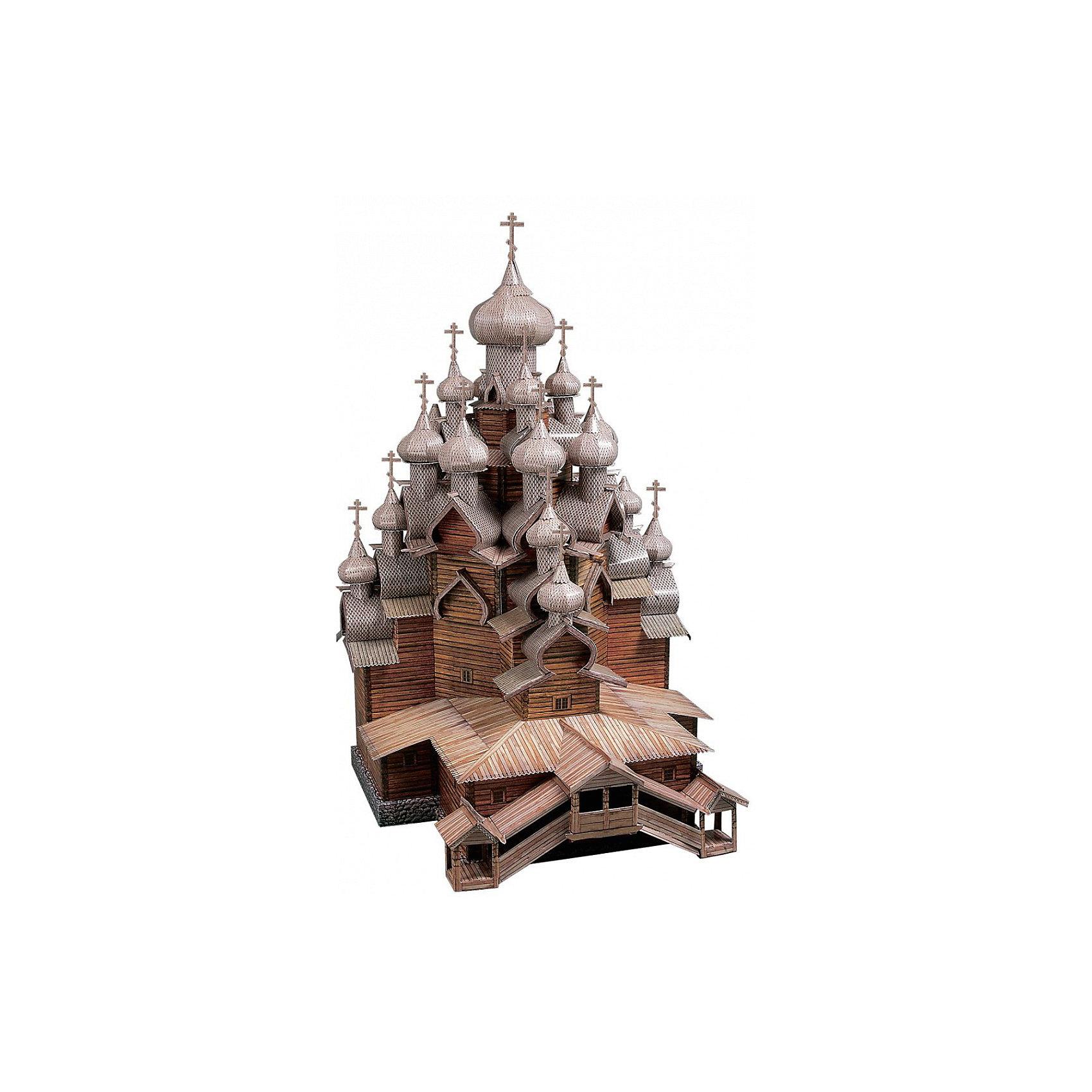 Сборная модель Церковь Преображения ГосподняМодели из картона и бумаги<br>Церковь Преображения Господня - cборная модель из картона. Серия: Масштабные модели. Количество деталей, шт: 210. Размер в собранном виде, см: 34 х 38 х 25. Размер упаковки, мм.:  высота 368 ширина 252 глубина 23. Тип упаковки: Картонная коробка. Вес, гр.: 456. Возраст: от 12 лет. Все модели и игрушки, созданные по технологии УМНАЯ БУМАГА собираются без ножниц и клея, что является их неповторимой особенностью.<br>Принцип соединения деталей запатентован. Соединения деталей продуманы и просчитаны с такой точностью, что при правильной сборке с моделью можно играть, как с обычной игрушкой.<br><br>Ширина мм: 252<br>Глубина мм: 23<br>Высота мм: 368<br>Вес г: 456<br>Возраст от месяцев: 144<br>Возраст до месяцев: 2147483647<br>Пол: Унисекс<br>Возраст: Детский<br>SKU: 4807399