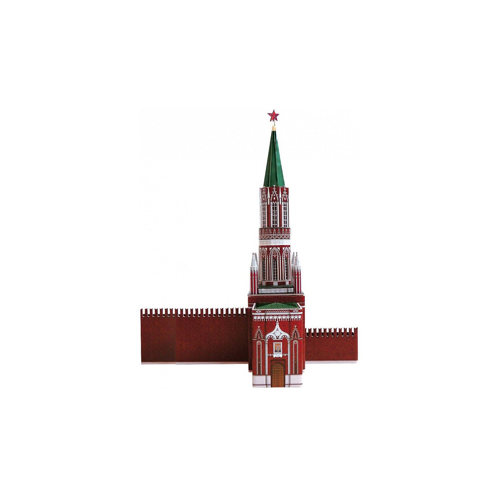 Сборная модель Никольская башняНикольская башня - cборная модель из картона. Количество деталей, шт: 23. Размер в собранном виде, см: 22 x 11 x 30. Размер упаковки, мм.:  высота 264 ширина 180 глубина 19. Тип упаковки: Картонная коробка. Вес, гр.: 242. Возраст: от 7 лет. Все модели и игрушки, созданные по технологии УМНАЯ БУМАГА собираются без ножниц и клея, что является их неповторимой особенностью.<br>Принцип соединения деталей запатентован. Соединения деталей продуманы и просчитаны с такой точностью, что при правильной сборке с моделью можно играть, как с обычной игрушкой.<br><br>Ширина мм: 180<br>Глубина мм: 19<br>Высота мм: 264<br>Вес г: 242<br>Возраст от месяцев: 84<br>Возраст до месяцев: 2147483647<br>Пол: Унисекс<br>Возраст: Детский<br>SKU: 4807401