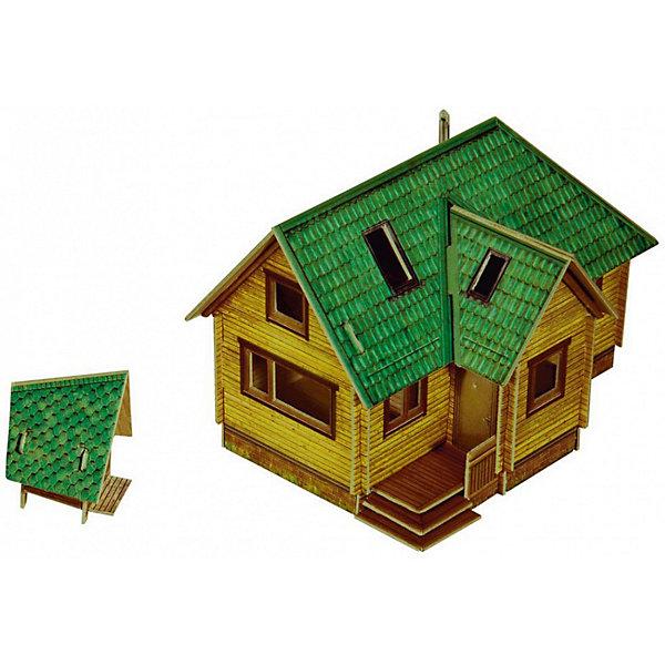Сборная модель Дачный домикБумажные модели<br>Дачный домик - cборная модель из картона. Серия: Масштабные модели. Количество деталей, шт: 38. Размер в собранном виде, см: Дом - 11 х 7 х 7,5. Туалет - 3 х 4 х 3. Размер упаковки, мм.:  высота 242 ширина 173 глубина 3. Тип упаковки: Пакет ПП с подвесом. Вес, гр.: 70. Возраст: от 9 лет. Все модели и игрушки, созданные по технологии УМНАЯ БУМАГА собираются без ножниц и клея, что является их неповторимой особенностью.<br>Принцип соединения деталей запатентован. Соединения деталей продуманы и просчитаны с такой точностью, что при правильной сборке с моделью можно играть, как с обычной игрушкой.<br><br>Ширина мм: 173<br>Глубина мм: 3<br>Высота мм: 242<br>Вес г: 70<br>Возраст от месяцев: 108<br>Возраст до месяцев: 2147483647<br>Пол: Унисекс<br>Возраст: Детский<br>SKU: 4807405