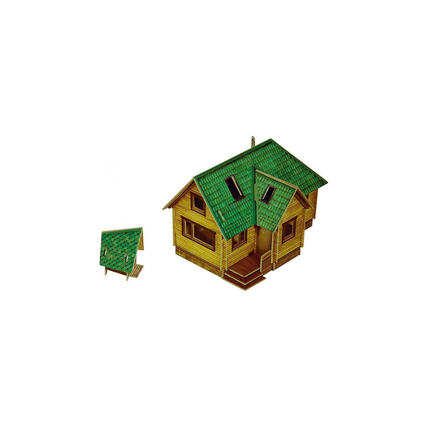 Сборная модель Дачный домикМодели из картона и бумаги<br>Дачный домик - cборная модель из картона. Серия: Масштабные модели. Количество деталей, шт: 38. Размер в собранном виде, см: Дом - 11 х 7 х 7,5. Туалет - 3 х 4 х 3. Размер упаковки, мм.:  высота 242 ширина 173 глубина 3. Тип упаковки: Пакет ПП с подвесом. Вес, гр.: 70. Возраст: от 9 лет. Все модели и игрушки, созданные по технологии УМНАЯ БУМАГА собираются без ножниц и клея, что является их неповторимой особенностью.<br>Принцип соединения деталей запатентован. Соединения деталей продуманы и просчитаны с такой точностью, что при правильной сборке с моделью можно играть, как с обычной игрушкой.<br><br>Ширина мм: 173<br>Глубина мм: 3<br>Высота мм: 242<br>Вес г: 70<br>Возраст от месяцев: 108<br>Возраст до месяцев: 2147483647<br>Пол: Унисекс<br>Возраст: Детский<br>SKU: 4807405