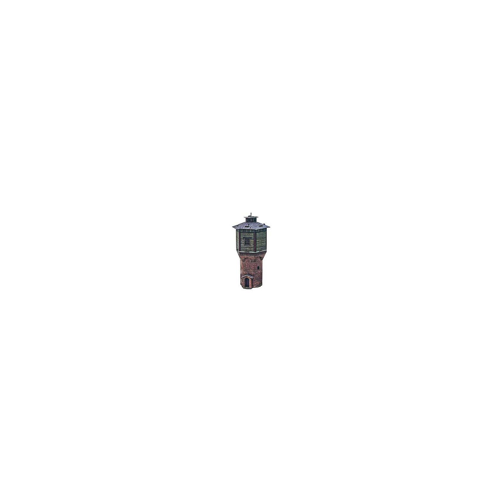 Сборная модель Водонапорная башняМодели из картона и бумаги<br>Водонапорная башня - cборная модель из картона. Серия: Масштабные модели. Размер упаковки, мм.:  высота 242 ширина 173 глубина 2. Тип упаковки: Картонная коробка. Вес, гр.: 75. Возраст: от 9 лет. Все модели и игрушки, созданные по технологии УМНАЯ БУМАГА собираются без ножниц и клея, что является их неповторимой особенностью.<br>Принцип соединения деталей запатентован. Соединения деталей продуманы и просчитаны с такой точностью, что при правильной сборке с моделью можно играть, как с обычной игрушкой.<br><br>Ширина мм: 173<br>Глубина мм: 2<br>Высота мм: 242<br>Вес г: 75<br>Возраст от месяцев: 108<br>Возраст до месяцев: 2147483647<br>Пол: Унисекс<br>Возраст: Детский<br>SKU: 4807406