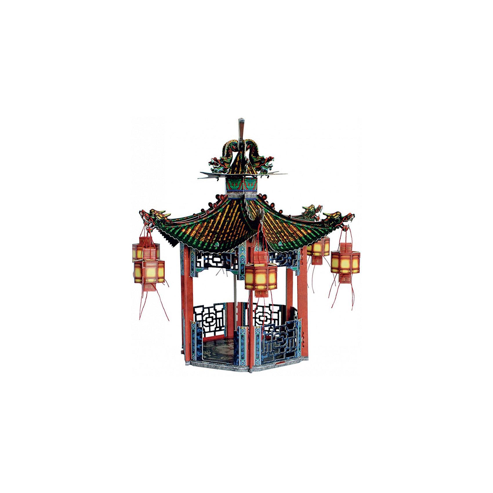 Сборная модель Китайская беседкаКитайская беседка - cборная модель из картона. Размер упаковки, мм.:  высота 368 ширина 252 глубина 23. Тип упаковки: Картонная коробка. Вес, гр.: 334. Возраст: от 9 лет. Все модели и игрушки, созданные по технологии УМНАЯ БУМАГА собираются без ножниц и клея, что является их неповторимой особенностью.<br>Принцип соединения деталей запатентован. Соединения деталей продуманы и просчитаны с такой точностью, что при правильной сборке с моделью можно играть, как с обычной игрушкой.<br><br>Ширина мм: 252<br>Глубина мм: 23<br>Высота мм: 368<br>Вес г: 334<br>Возраст от месяцев: 108<br>Возраст до месяцев: 2147483647<br>Пол: Унисекс<br>Возраст: Детский<br>SKU: 4807407