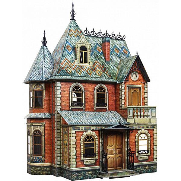 Сборная модель Кукольный ДомМодели из бумаги<br>Кукольный Дом - cюжетный игровой набор из плотного картона. Серия: Кукольный дом и мебель. Количество деталей, шт: 110. Размер в собранном виде, см: 44 x 44 x 67. Размер упаковки, мм.:  высота 493 ширина 350 глубина 37. Тип упаковки: Картонная коробка. Вес, гр.: 3220. Возраст: от 7 лет. Все модели и игрушки, созданные по технологии УМНАЯ БУМАГА собираются без ножниц и клея, что является их неповторимой особенностью.<br>Принцип соединения деталей запатентован. Соединения деталей продуманы и просчитаны с такой точностью, что при правильной сборке с моделью можно играть, как с обычной игрушкой.<br><br>Ширина мм: 350<br>Глубина мм: 37<br>Высота мм: 493<br>Вес г: 3220<br>Возраст от месяцев: 84<br>Возраст до месяцев: 2147483647<br>Пол: Унисекс<br>Возраст: Детский<br>SKU: 4807408