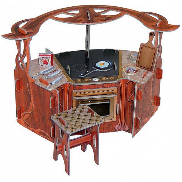 Сборная модель Коллекционный набор мебели КухняМодели из бумаги<br>Кухня - cюжетный игровой набор из плотного картона. Серия: Кукольный дом и мебель. Количество деталей, шт: 15. Размер в собранном виде, см: Кухня - 17,5 х 8,5 х 11. Табурет - 4 х 3,5 х 5. Размер упаковки, мм.:  высота 250 ширина 175 глубина 3. Тип упаковки: Пакет ПП с подвесом. Вес, гр.: 105. Возраст: от 7 лет. Все модели и игрушки, созданные по технологии УМНАЯ БУМАГА собираются без ножниц и клея, что является их неповторимой особенностью.<br>Принцип соединения деталей запатентован. Соединения деталей продуманы и просчитаны с такой точностью, что при правильной сборке с моделью можно играть, как с обычной игрушкой.<br><br>Ширина мм: 175<br>Глубина мм: 3<br>Высота мм: 250<br>Вес г: 105<br>Возраст от месяцев: 84<br>Возраст до месяцев: 2147483647<br>Пол: Унисекс<br>Возраст: Детский<br>SKU: 4807411