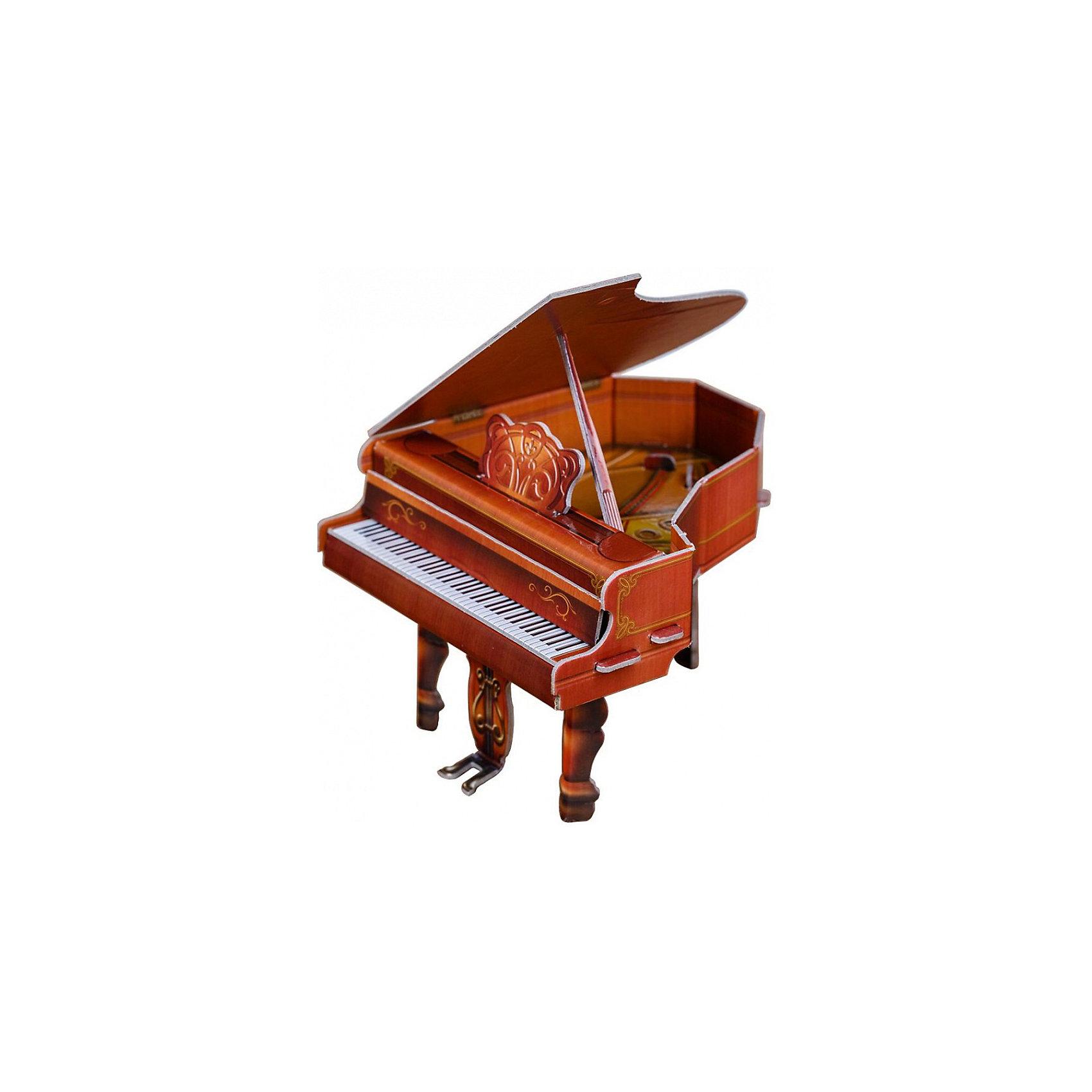 Сборная модель Коллекционный набор мебели РояльРояль (коричневый) - cюжетный игровой набор из плотного картона. Серия: Кукольный дом и мебель. Количество деталей, шт: 14. Размер в собранном виде, см: Рояль - 11,6 х 10,7 х 10. Скамья - 4 х 4 х 43,5.. Размер упаковки, мм.:  высота 250 ширина 175 глубина 3. Тип упаковки: Пакет ПП с подвесом. Вес, гр.: 104. Возраст: от 7 лет. Все модели и игрушки, созданные по технологии УМНАЯ БУМАГА собираются без ножниц и клея, что является их неповторимой особенностью.<br>Принцип соединения деталей запатентован. Соединения деталей продуманы и просчитаны с такой точностью, что при правильной сборке с моделью можно играть, как с обычной игрушкой.<br><br>Ширина мм: 175<br>Глубина мм: 3<br>Высота мм: 250<br>Вес г: 104<br>Возраст от месяцев: 84<br>Возраст до месяцев: 2147483647<br>Пол: Унисекс<br>Возраст: Детский<br>SKU: 4807413