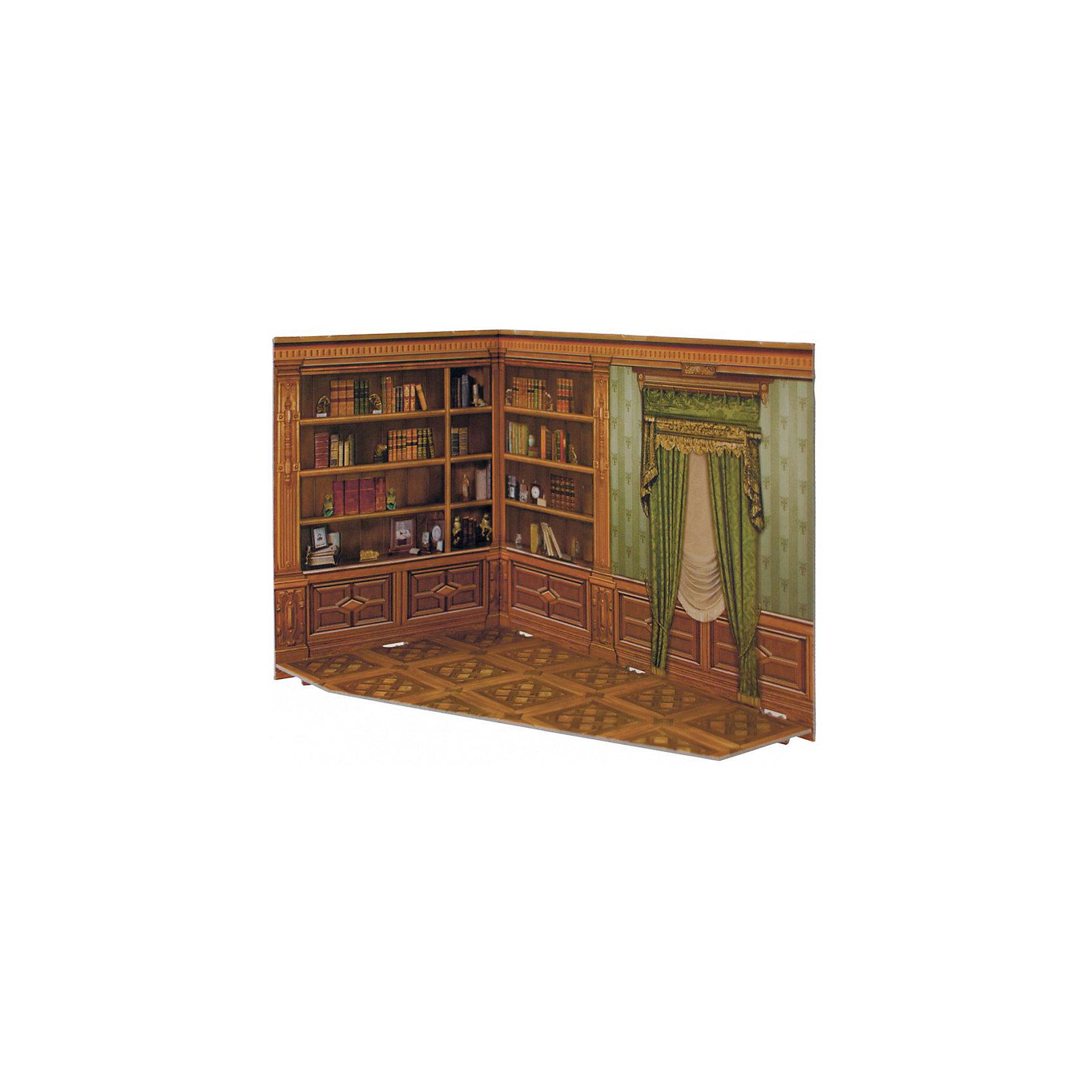 Сборная модель Румбокс КабинетРумбокс -кабинет - Сюжетный игровой набор из плотного картона. Серия: Кукольный дом и мебель. Количество деталей, шт: 2. Размер в собранном виде, см: 26 x 20 x 15. Размер упаковки, мм.:  высота 255 ширина 210 глубина 5. Тип упаковки: Пакет ПП с подвесом. Вес, гр.: 201. Возраст: от 7 лет. Все модели и игрушки, созданные по технологии УМНАЯ БУМАГА собираются без ножниц и клея, что является их неповторимой особенностью.<br>Принцип соединения деталей запатентован. Соединения деталей продуманы и просчитаны с такой точностью, что при правильной сборке с моделью можно играть, как с обычной игрушкой.<br><br>Ширина мм: 210<br>Глубина мм: 5<br>Высота мм: 255<br>Вес г: 201<br>Возраст от месяцев: 84<br>Возраст до месяцев: 2147483647<br>Пол: Унисекс<br>Возраст: Детский<br>SKU: 4807422