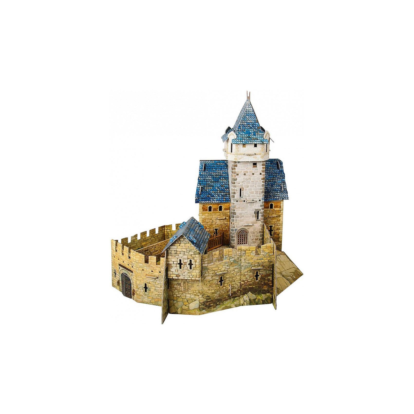 Сборная модель Охотничий замокМодели из картона и бумаги<br>Охотничий замок - Сюжетный игровой набор из плотного картона. Серия: Средневековый город. Количество деталей, шт: 48. Размер в собранном виде, см: 30 х 32 х 24. Размер упаковки, мм.:  высота 368 ширина 252 глубина 23. Тип упаковки: Картонная коробка. Вес, гр.: 614. Возраст: от 7 лет. Все модели и игрушки, созданные по технологии УМНАЯ БУМАГА собираются без ножниц и клея, что является их неповторимой особенностью.<br>Принцип соединения деталей запатентован. Соединения деталей продуманы и просчитаны с такой точностью, что при правильной сборке с моделью можно играть, как с обычной игрушкой.<br><br>Ширина мм: 252<br>Глубина мм: 23<br>Высота мм: 368<br>Вес г: 614<br>Возраст от месяцев: 84<br>Возраст до месяцев: 2147483647<br>Пол: Унисекс<br>Возраст: Детский<br>SKU: 4807433