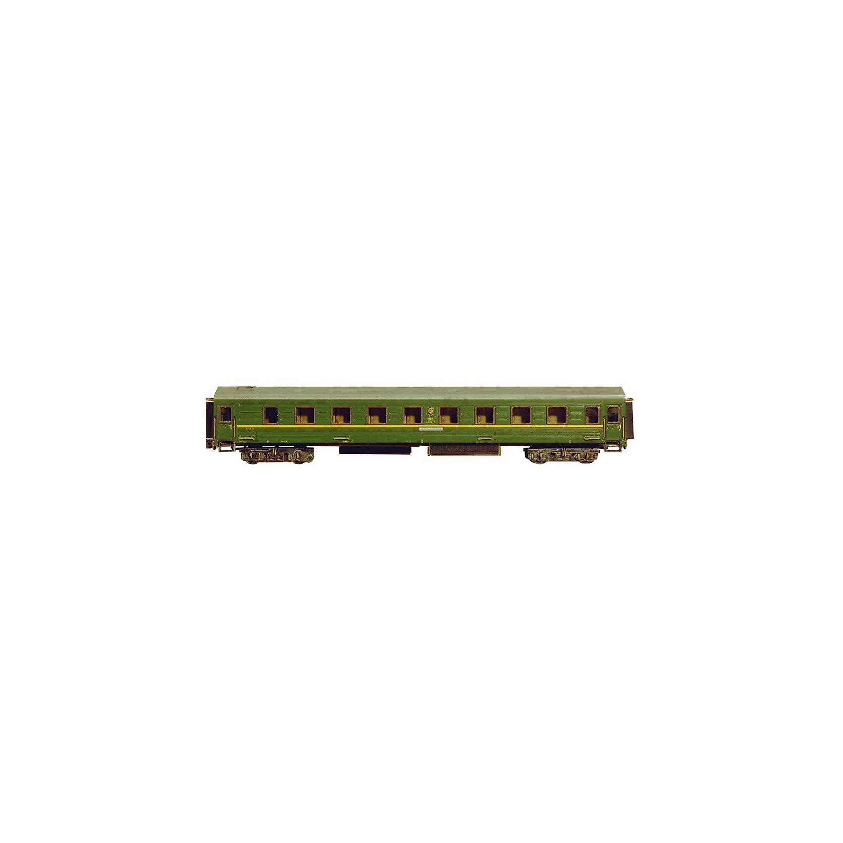 Сборная модель Спальный вагонМодели из картона и бумаги<br>Спальный вагон (Эпоха IV) - Сборная модель из картона. Серия: Масштабные модели. Количество деталей, шт: 59. Размер в собранном виде, см: 29 х 4 х 5,5. Размер упаковки, мм.:  высота 340 ширина 243 глубина 3. Тип упаковки: Пакет ПП с подвесом. Вес, гр.: 153. Возраст: от 9 лет. Все модели и игрушки, созданные по технологии УМНАЯ БУМАГА собираются без ножниц и клея, что является их неповторимой особенностью.<br>Принцип соединения деталей запатентован. Соединения деталей продуманы и просчитаны с такой точностью, что при правильной сборке с моделью можно играть, как с обычной игрушкой.<br><br>Ширина мм: 243<br>Глубина мм: 3<br>Высота мм: 340<br>Вес г: 153<br>Возраст от месяцев: 108<br>Возраст до месяцев: 2147483647<br>Пол: Унисекс<br>Возраст: Детский<br>SKU: 4807444