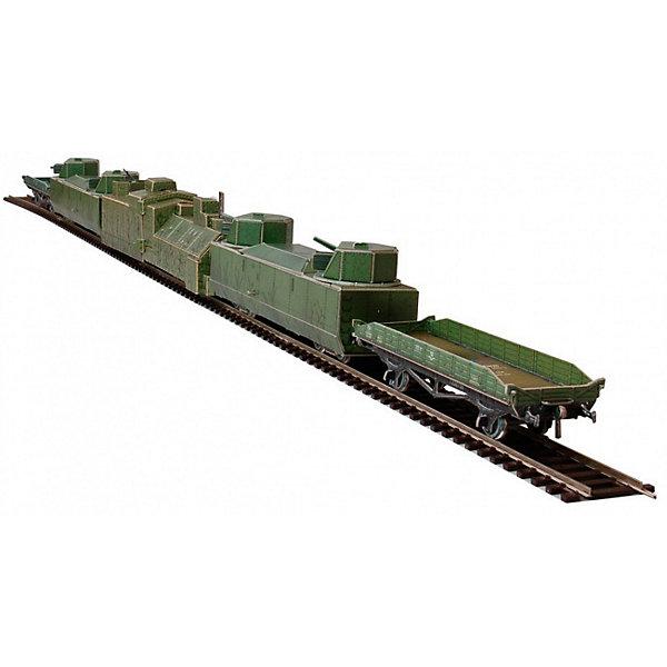 Сборная модель Бронепоезд 1939-1945 CCCРМодели из бумаги<br>Бронепоезд - Сборная модель из картона. Серия: Масштабные модели. Количество деталей, шт: 174. Размер в собранном виде, см: Бронепаровоз 1шт - 22 х 5,5 х 4. Бронеплощадка 2шт - 16,5 х 5 х 3,5. Платформа 2шт - 12 х 2,5 х 3,5.. Размер упаковки, мм.:  высота 264 ширина 180 глубина 19. Тип упаковки: Картонная коробка. Вес, гр.: 338. Возраст: от 9 лет. Все модели и игрушки, созданные по технологии УМНАЯ БУМАГА собираются без ножниц и клея, что является их неповторимой особенностью.<br>Принцип соединения деталей запатентован. Соединения деталей продуманы и просчитаны с такой точностью, что при правильной сборке с моделью можно играть, как с обычной игрушкой.<br><br>Ширина мм: 180<br>Глубина мм: 19<br>Высота мм: 264<br>Вес г: 338<br>Возраст от месяцев: 108<br>Возраст до месяцев: 2147483647<br>Пол: Унисекс<br>Возраст: Детский<br>SKU: 4807453
