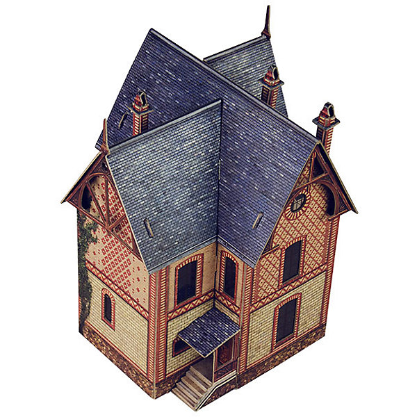 Сборная модель Вилла в ВезинеБумажные модели<br>Вилла в Везине - Сборная модель из картона. Серия: Масштабные модели.  Количество деталей, шт: 47. Размер в собранном виде, см: 12 х 16 х 12. Размер упаковки, мм.:  высота 340 ширина 243 глубина 3. Тип упаковки: Пакет ПП с подвесом. Вес, гр.: 141. Возраст: от 9 лет. Все модели и игрушки, созданные по технологии УМНАЯ БУМАГА собираются без ножниц и клея, что является их неповторимой особенностью.<br>Принцип соединения деталей запатентован. Соединения деталей продуманы и просчитаны с такой точностью, что при правильной сборке с моделью можно играть, как с обычной игрушкой.<br><br>Ширина мм: 243<br>Глубина мм: 3<br>Высота мм: 340<br>Вес г: 141<br>Возраст от месяцев: 108<br>Возраст до месяцев: 2147483647<br>Пол: Унисекс<br>Возраст: Детский<br>SKU: 4807457