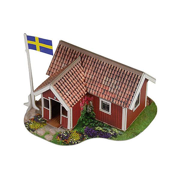Сборная модель Шведский домикБумажные модели<br>Шведский домик - Сборная модель из картона. Серия: Масштабные модели.  Количество деталей, шт: 15. Размер в собранном виде, см: 11 х 9 х 10. Размер упаковки, мм.:  высота 242 ширина 173 глубина 3. Тип упаковки: Пакет ПП с подвесом. Вес, гр.: 76. Возраст: от 9 лет. Все модели и игрушки, созданные по технологии УМНАЯ БУМАГА собираются без ножниц и клея, что является их неповторимой особенностью.<br>Принцип соединения деталей запатентован. Соединения деталей продуманы и просчитаны с такой точностью, что при правильной сборке с моделью можно играть, как с обычной игрушкой.<br><br>Ширина мм: 173<br>Глубина мм: 3<br>Высота мм: 242<br>Вес г: 76<br>Возраст от месяцев: 84<br>Возраст до месяцев: 2147483647<br>Пол: Унисекс<br>Возраст: Детский<br>SKU: 4807466