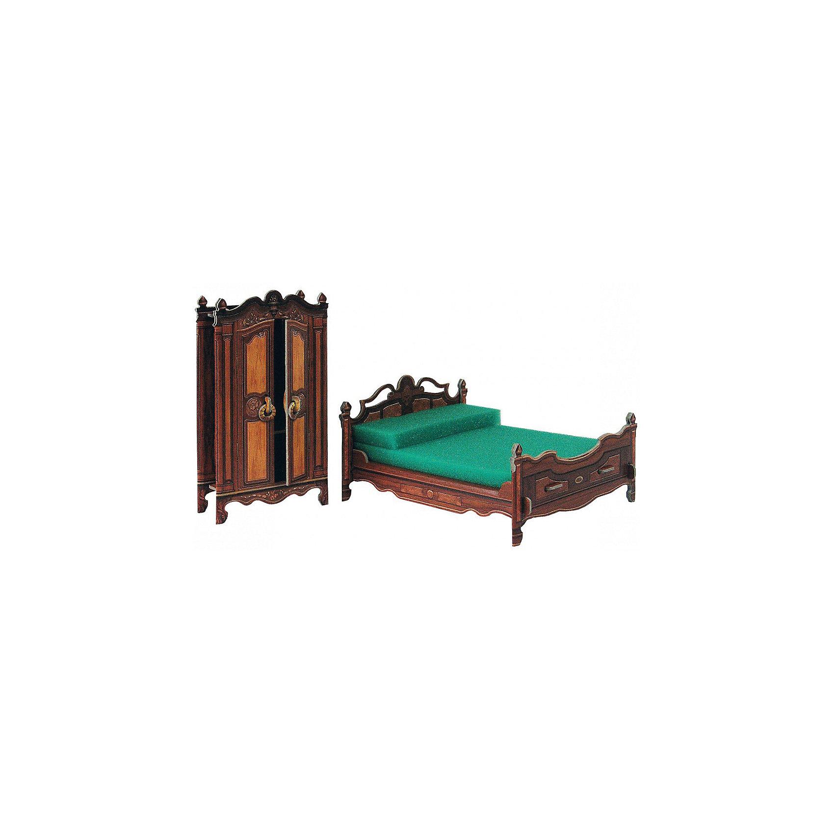 Сборная модель СпальняМодели из картона и бумаги<br>Спальня - Сюжетный игровой набор из плотного картона. Серия: Кукольный дом и мебель. Количество деталей, шт: 12. Размер в собранном виде, см: Кровать 11 х 7 х 14 Шкаф 7 х 13 х 3. Размер упаковки, мм.:  высота 264 ширина 180 глубина 19. Тип упаковки: Картонная коробка. Вес, гр.: 157. Возраст: от 7 лет. Все модели и игрушки, созданные по технологии УМНАЯ БУМАГА собираются без ножниц и клея, что является их неповторимой особенностью.<br>Принцип соединения деталей запатентован. Соединения деталей продуманы и просчитаны с такой точностью, что при правильной сборке с моделью можно играть, как с обычной игрушкой.<br><br>Ширина мм: 180<br>Глубина мм: 19<br>Высота мм: 264<br>Вес г: 157<br>Возраст от месяцев: 36<br>Возраст до месяцев: 2147483647<br>Пол: Унисекс<br>Возраст: Детский<br>SKU: 4807476