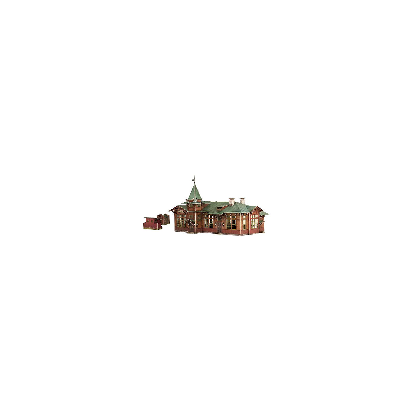 Умная Бумага Сборная модель Вокзал Куженкино конструктор железнодорожный вокзал
