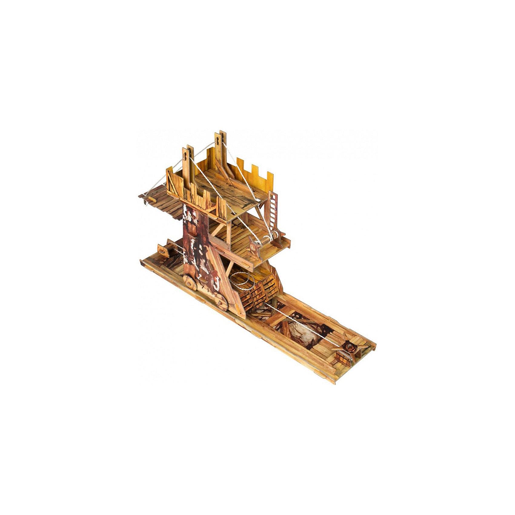 Сборная модель Осадная башняМодели из картона и бумаги<br>Осадная башня - Сюжетный игровой набор из плотного картона. Серия: Средневековый город. Количество деталей, шт: 51. Размер в собранном виде, см: 34 x 21,5 x 8,5. Размер упаковки, мм.:  высота 368 ширина 252 глубина 23. Тип упаковки: Картонная коробка. Вес, гр.: 352. Возраст: от 7 лет. Все модели и игрушки, созданные по технологии УМНАЯ БУМАГА собираются без ножниц и клея, что является их неповторимой особенностью.<br>Принцип соединения деталей запатентован. Соединения деталей продуманы и просчитаны с такой точностью, что при правильной сборке с моделью можно играть, как с обычной игрушкой.<br><br>Ширина мм: 252<br>Глубина мм: 23<br>Высота мм: 368<br>Вес г: 352<br>Возраст от месяцев: 84<br>Возраст до месяцев: 2147483647<br>Пол: Унисекс<br>Возраст: Детский<br>SKU: 4807483