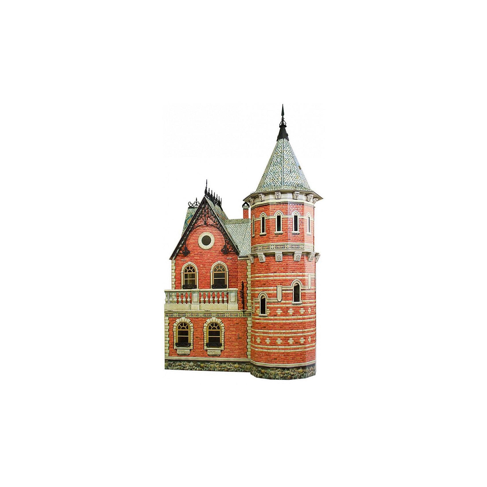 Сборная модель Кукольный ДомКукольный Дом - Сюжетный игровой набор из плотного картона. Серия: Кукольный дом и мебель. Количество деталей, шт: 134. Размер в собранном виде, см: 46 x 32 x 76. Размер упаковки, мм.:  высота 493 ширина 350 глубина 37. Тип упаковки: Картонная коробка. Вес, гр.: 3185. Возраст: от 7 лет. Все модели и игрушки, созданные по технологии УМНАЯ БУМАГА собираются без ножниц и клея, что является их неповторимой особенностью.<br>Принцип соединения деталей запатентован. Соединения деталей продуманы и просчитаны с такой точностью, что при правильной сборке с моделью можно играть, как с обычной игрушкой.<br><br>Ширина мм: 350<br>Глубина мм: 37<br>Высота мм: 493<br>Вес г: 3185<br>Возраст от месяцев: 84<br>Возраст до месяцев: 2147483647<br>Пол: Унисекс<br>Возраст: Детский<br>SKU: 4807487