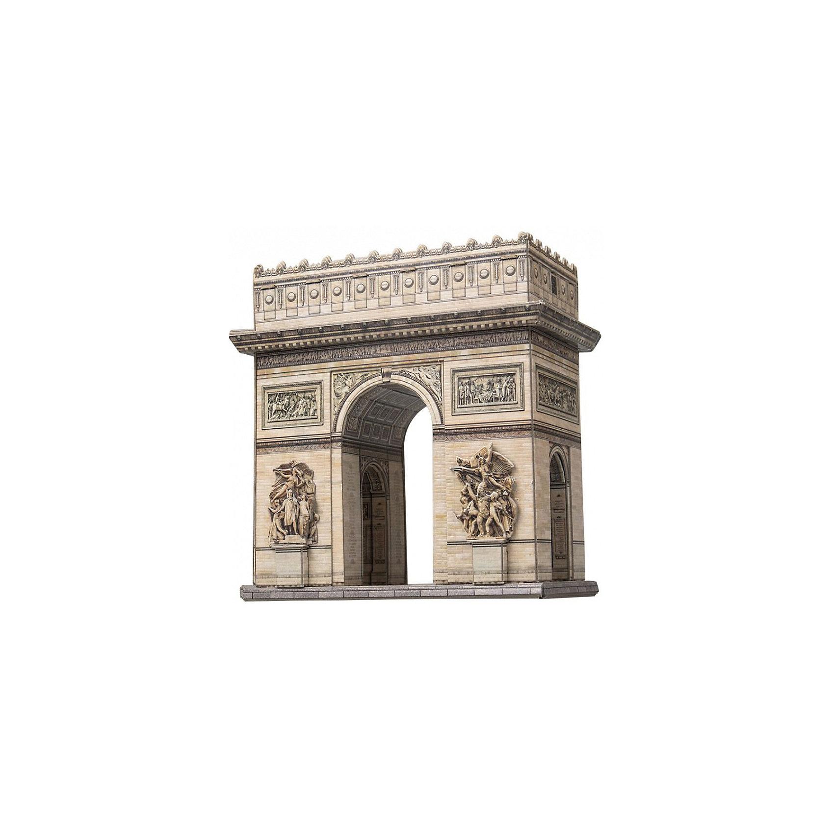 Сборная модель Триумфальная аркаБумажные модели<br>Триумфальная арка - Сборная модель из картона. Серия: Масштабные модели. Количество деталей, шт: 44. Размер в собранном виде, см: 16 x 9 x 17,5. Размер упаковки, мм.:  высота 310 ширина 220 глубина 22. Тип упаковки: Картонная коробка. Вес, гр.: 267. Возраст: от 9 лет. Все модели и игрушки, созданные по технологии УМНАЯ БУМАГА собираются без ножниц и клея, что является их неповторимой особенностью.<br>Принцип соединения деталей запатентован. Соединения деталей продуманы и просчитаны с такой точностью, что при правильной сборке с моделью можно играть, как с обычной игрушкой.<br><br>Ширина мм: 220<br>Глубина мм: 22<br>Высота мм: 310<br>Вес г: 267<br>Возраст от месяцев: 84<br>Возраст до месяцев: 2147483647<br>Пол: Унисекс<br>Возраст: Детский<br>SKU: 4807489