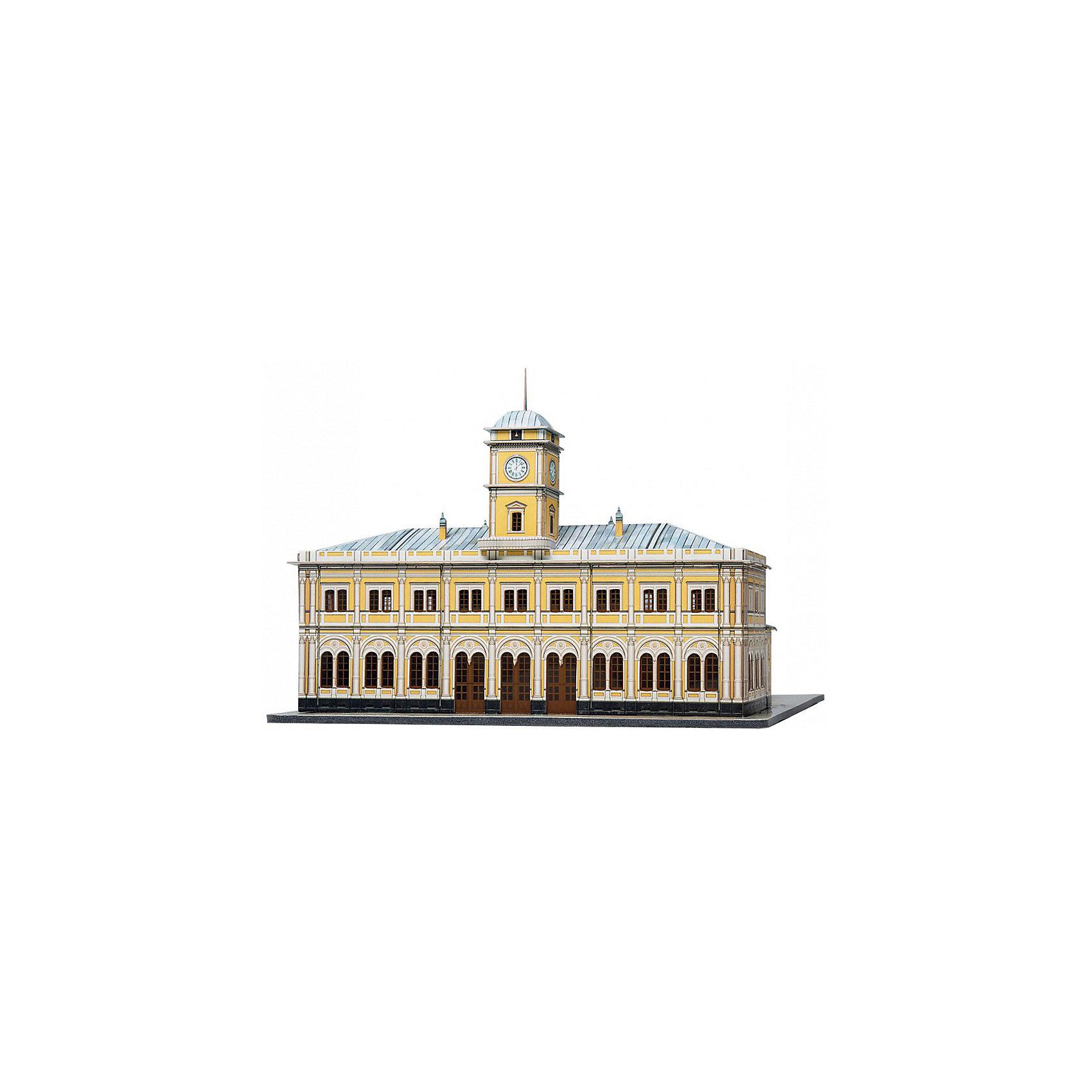Умная Бумага Сборная модель Николаевский вокзал конструктор железнодорожный вокзал
