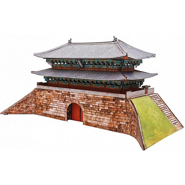 Сборная модель Ворота НамдэмунБумажные модели<br>Ворота Намдэмун (Сеул) - Сборная модель из картона. Серия: Масштабные модели. Количество деталей, шт: 55. Размер в собранном виде, см: 27,5 x 12,5 x 13. Размер упаковки, мм.:  высота 310 ширина 220 глубина 22. Тип упаковки: Картонная коробка. Вес, гр.: 322. Возраст: от 9 лет. Все модели и игрушки, созданные по технологии УМНАЯ БУМАГА собираются без ножниц и клея, что является их неповторимой особенностью.<br>Принцип соединения деталей запатентован. Соединения деталей продуманы и просчитаны с такой точностью, что при правильной сборке с моделью можно играть, как с обычной игрушкой.<br><br>Ширина мм: 220<br>Глубина мм: 22<br>Высота мм: 310<br>Вес г: 322<br>Возраст от месяцев: 84<br>Возраст до месяцев: 2147483647<br>Пол: Унисекс<br>Возраст: Детский<br>SKU: 4807506