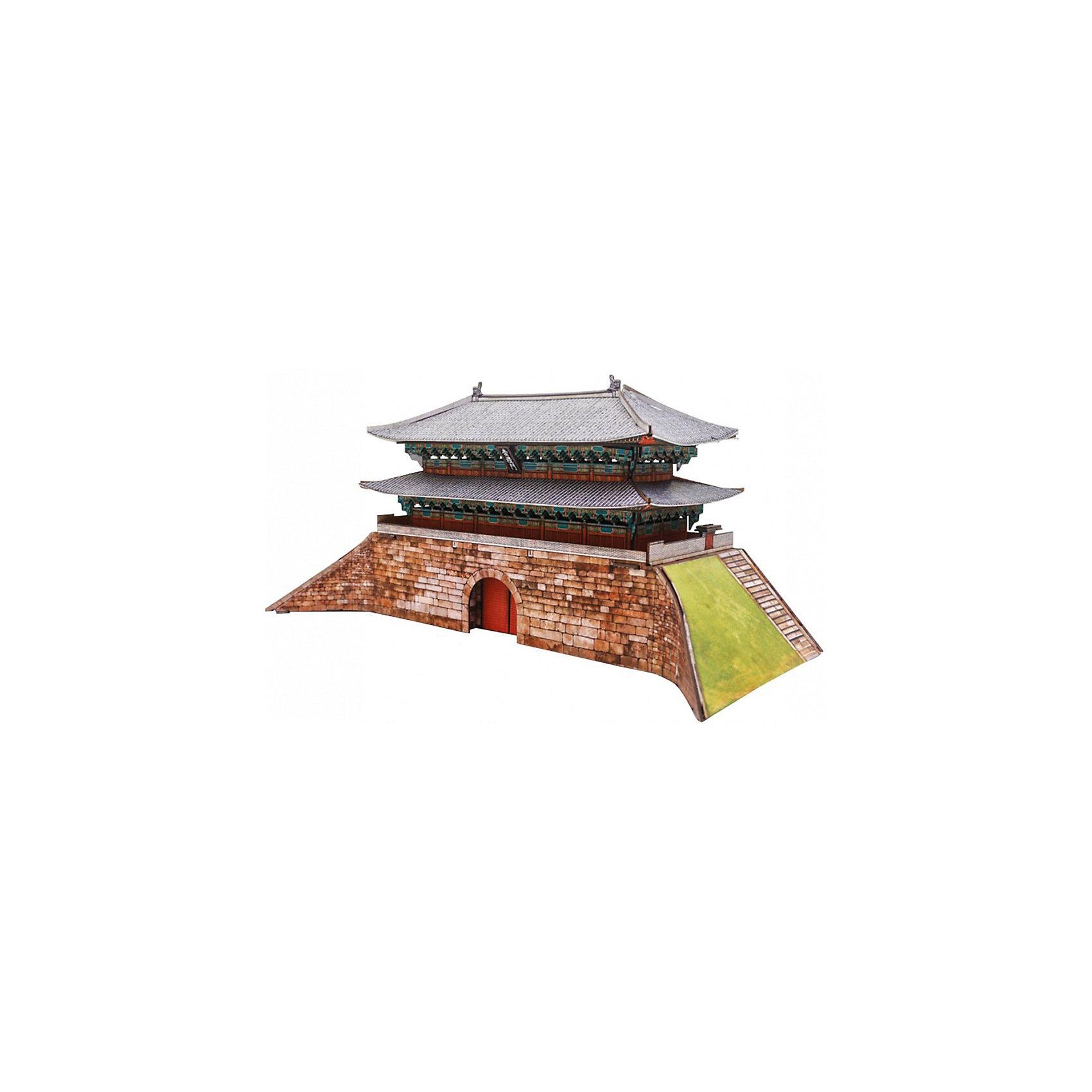 Сборная модель Ворота НамдэмунВорота Намдэмун (Сеул) - Сборная модель из картона. Серия: Масштабные модели. Количество деталей, шт: 55. Размер в собранном виде, см: 27,5 x 12,5 x 13. Размер упаковки, мм.:  высота 310 ширина 220 глубина 22. Тип упаковки: Картонная коробка. Вес, гр.: 322. Возраст: от 9 лет. Все модели и игрушки, созданные по технологии УМНАЯ БУМАГА собираются без ножниц и клея, что является их неповторимой особенностью.<br>Принцип соединения деталей запатентован. Соединения деталей продуманы и просчитаны с такой точностью, что при правильной сборке с моделью можно играть, как с обычной игрушкой.<br><br>Ширина мм: 220<br>Глубина мм: 22<br>Высота мм: 310<br>Вес г: 322<br>Возраст от месяцев: 84<br>Возраст до месяцев: 2147483647<br>Пол: Унисекс<br>Возраст: Детский<br>SKU: 4807506