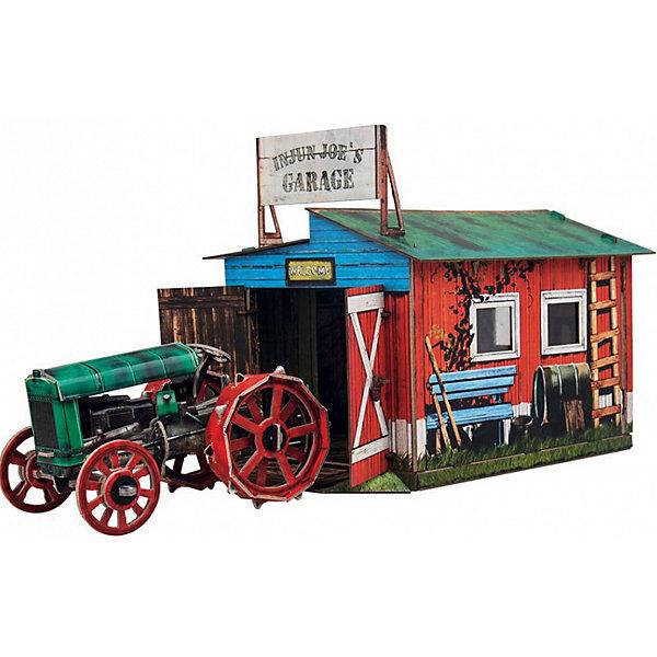 Сборная модель Трактор и гаражМодели из бумаги<br>Трактор и гараж - Сюжетный игровой набор из плотного картона. <br>Количество деталей, шт: . Размер в собранном виде, см: . Размер упаковки, мм.:  высота 310 ширина 220 глубина 22. Тип упаковки: Картонная коробка. Вес, гр.: 380. Возраст: от 7 лет. Все модели и игрушки, созданные по технологии УМНАЯ БУМАГА собираются без ножниц и клея, что является их неповторимой особенностью.<br>Принцип соединения деталей запатентован. Соединения деталей продуманы и просчитаны с такой точностью, что при правильной сборке с моделью можно играть, как с обычной игрушкой.<br><br>Ширина мм: 220<br>Глубина мм: 22<br>Высота мм: 310<br>Вес г: 380<br>Возраст от месяцев: 60<br>Возраст до месяцев: 2147483647<br>Пол: Унисекс<br>Возраст: Детский<br>SKU: 4807512