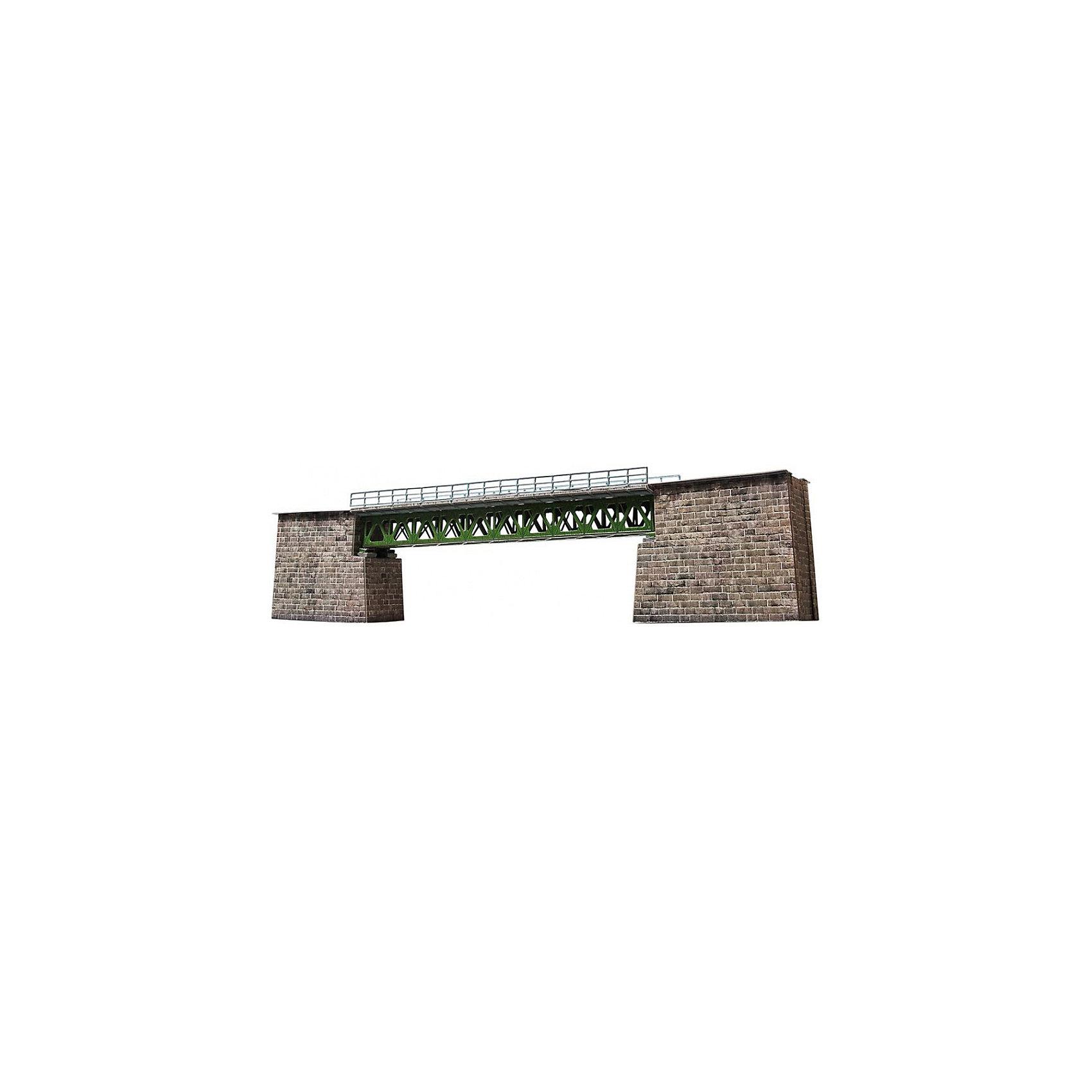 Сборная модель Железнодорожный мостЖелезнодорожный мост(СССР-Россия), масштаб 1/87 - Сборная модель из картона. Серия: Масштабные модели. Количество деталей, шт: 28. Размер в собранном виде, см: 11х54х5,5. Размер упаковки, мм.:  высота 255 ширина 370 глубина 24. Тип упаковки: Картонная коробка. Вес, гр.: 320. Возраст: от 9 лет. Все модели и игрушки, созданные по технологии УМНАЯ БУМАГА собираются без ножниц и клея, что является их неповторимой особенностью.<br>Принцип соединения деталей запатентован. Соединения деталей продуманы и просчитаны с такой точностью, что при правильной сборке с моделью можно играть, как с обычной игрушкой.<br><br>Ширина мм: 370<br>Глубина мм: 24<br>Высота мм: 255<br>Вес г: 320<br>Возраст от месяцев: 84<br>Возраст до месяцев: 2147483647<br>Пол: Унисекс<br>Возраст: Детский<br>SKU: 4807514