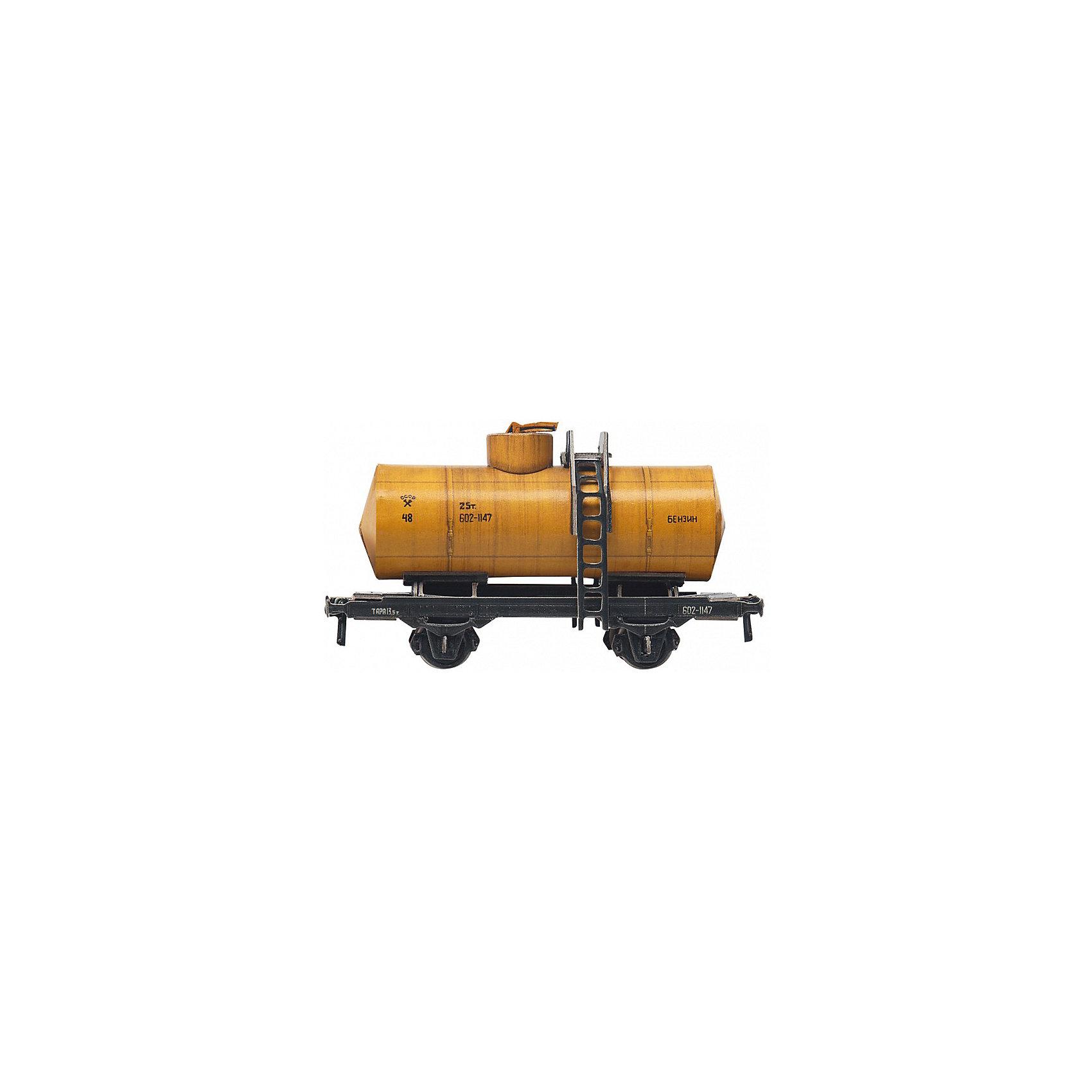 Сборная модель Двухосная цистерна 25 м3 (желтая)Двухосная цистерна 25 м3 (желтая) - Сборная модель из картона. Серия: Масштабные модели.Количество деталей, шт: 19. Размер в собранном виде, см: 10х5,5х3. Размер упаковки, мм.:  высота 170 ширина 122 глубина 2. Тип упаковки: Пакет ПП с подвесом. Вес, гр.: 31. Возраст: от 9 лет. Все модели и игрушки, созданные по технологии УМНАЯ БУМАГА собираются без ножниц и клея, что является их неповторимой особенностью.<br>Принцип соединения деталей запатентован. Соединения деталей продуманы и просчитаны с такой точностью, что при правильной сборке с моделью можно играть, как с обычной игрушкой.<br><br>Ширина мм: 122<br>Глубина мм: 2<br>Высота мм: 170<br>Вес г: 31<br>Возраст от месяцев: 84<br>Возраст до месяцев: 2147483647<br>Пол: Унисекс<br>Возраст: Детский<br>SKU: 4807517
