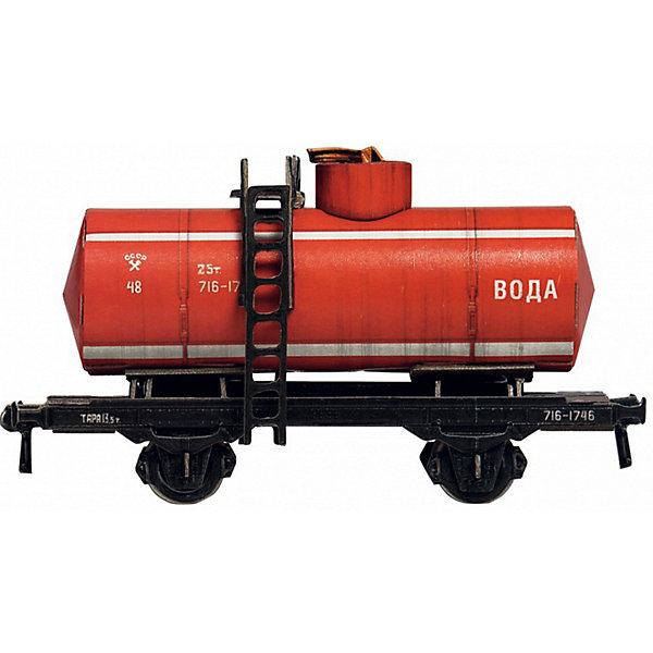 Сборная модель Двухосная цистерна 25 м3 (красная)