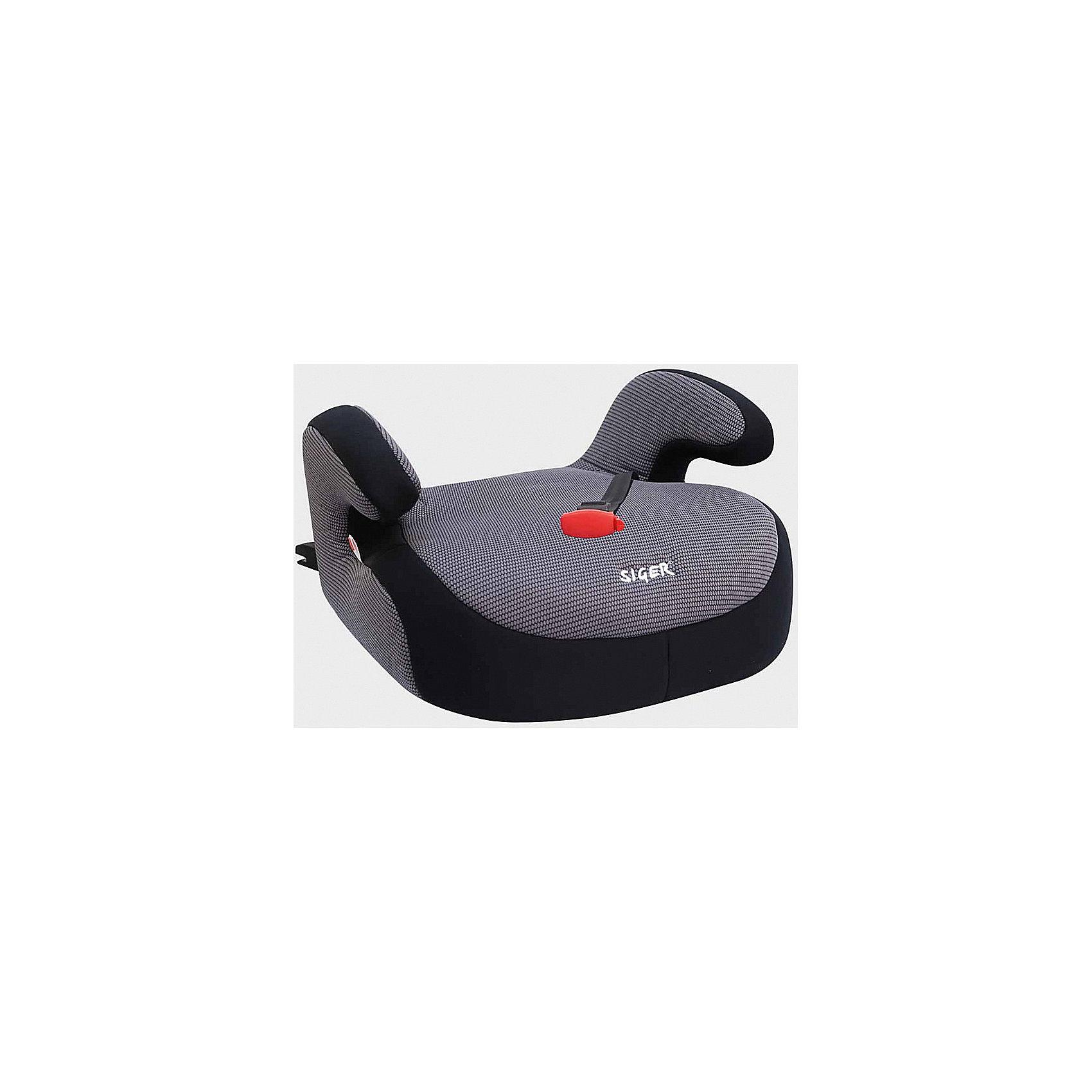 Бустер FIX 22-36 кг., Siger, серыйБустер FIX это малогабаритное кресло без спинки, предназначенное для перевозки детей от 3 до 12 лет, весом от 22 до 36 кг. Оно будет обеспечивать безопасную и комфортную поездку для Вашего ребенка. Преимущество модели заключается в наличии направляющего натяжного фиксатора, с помощью которого можно регулировать ремни безопасности в соответствии с ростом ребенка. Автокресло оснащено мягкими подлокотниками, которые создают комфорт и удобство во время путешествия. Бустер выполнен из ударопрочной пластмассы, чехол автокресла легко снимается и легко поддается как ручной, так и машинной стирке.<br><br>Дополнительная информация:<br><br>- Материал: текстиль, пластик, металл.<br>- Размер: 45х40х25 см<br>- Возраст: от 3 до 12 лет<br>- Группа: 3 (22-36 кг)<br>- Вес бустера: 2.5 кг<br>- Устанавливается по ходу движения. <br>- Внутренние 3-точечные ремни безопасности<br>- Съемные чехлы.<br><br>Бустер FIX 15-36 кг. Серый можно купить в нашем интернет-магазине.<br><br>Ширина мм: 390<br>Глубина мм: 430<br>Высота мм: 140<br>Вес г: 3100<br>Возраст от месяцев: 72<br>Возраст до месяцев: 144<br>Пол: Унисекс<br>Возраст: Детский<br>SKU: 4809107