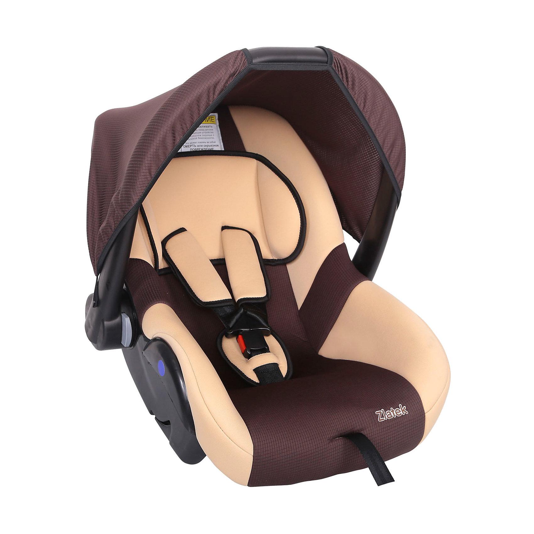 Автокресло Zlatek Colibri 0-13 кг, коричневыйГруппа 0+ (До 13 кг)<br>Colibri Zlatek - современное и комфортное автокресло, которое обеспечит безопасность и комфорт вашему ребенку. В кресле предусмотрена мягкая анатомическая подушка, которая будет удерживать голову малыша, а также удобные ремни, регулируемые по росту. Благодаря удобной ручке кресло легко переносить в руках, а так же его можно использовать как кресло-качалку.<br><br>Дополнительная информация:<br><br>- Материал: текстиль, пластик, металл.<br>- Размер: 60x37x36 см<br>- Возраст: от 0 до 18 месяцев<br>- Группа: 0+ (до 13 кг)<br>- Вес кресла: 3.7 кг<br>- Внутренние 3-точечные ремни безопасности<br><br>Автокресло Colibri 0-13 кг., Zlatek, коричневый можно купить в нашем интернет-магазине.<br><br>Ширина мм: 600<br>Глубина мм: 360<br>Высота мм: 370<br>Вес г: 3700<br>Возраст от месяцев: 0<br>Возраст до месяцев: 18<br>Пол: Унисекс<br>Возраст: Детский<br>SKU: 4809130