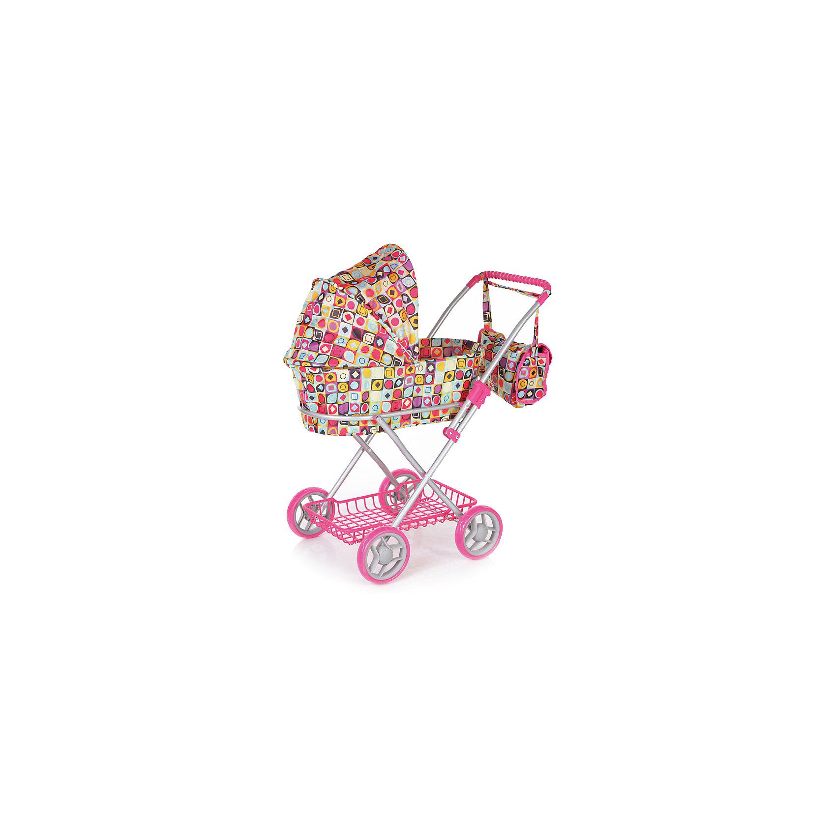 Коляска для кукол Классическая, с сумкой, Melobo, h=68,5Коляска для кукол Классическая, с сумкой, Melobo<br>Яркая розовая классическая коляска для кукол Melobo, так понравится вашим куклам, что они не захотят уходить с прогулки! Коляска выглядит совсем как настоящая, а высококачественные материалы прочны и безопасны для детей. Надежный каркас из металла позволит коляске прослужить долго. Обивка снимается, ее можно стирать. В коляске предусмотен откидной козырек, корзина для игрушек и сумка на ручке коляски в тон. В сумку можно положить бутылочку для куклы, салфетки и все необходимое для для игры в дочки-матери.<br>Дополнительная информация:<br><br>- Материал: пластик, текстиль, металл <br>- Габариты коляски: 55 x 27 x 18 см<br>- Высота до ручки 68 см.<br>Коляску для кукол Классическая, с сумкой, Melobo можно купить в нашем интернет-магазине.<br>Подробнее:<br>• Для детей в возрасте: от 3 до 6 лет<br>• Номер товара: 4809911<br>Страна производитель: Китай<br><br>Ширина мм: 50<br>Глубина мм: 42<br>Высота мм: 65<br>Вес г: 3130<br>Возраст от месяцев: 24<br>Возраст до месяцев: 72<br>Пол: Женский<br>Возраст: Детский<br>SKU: 4809911