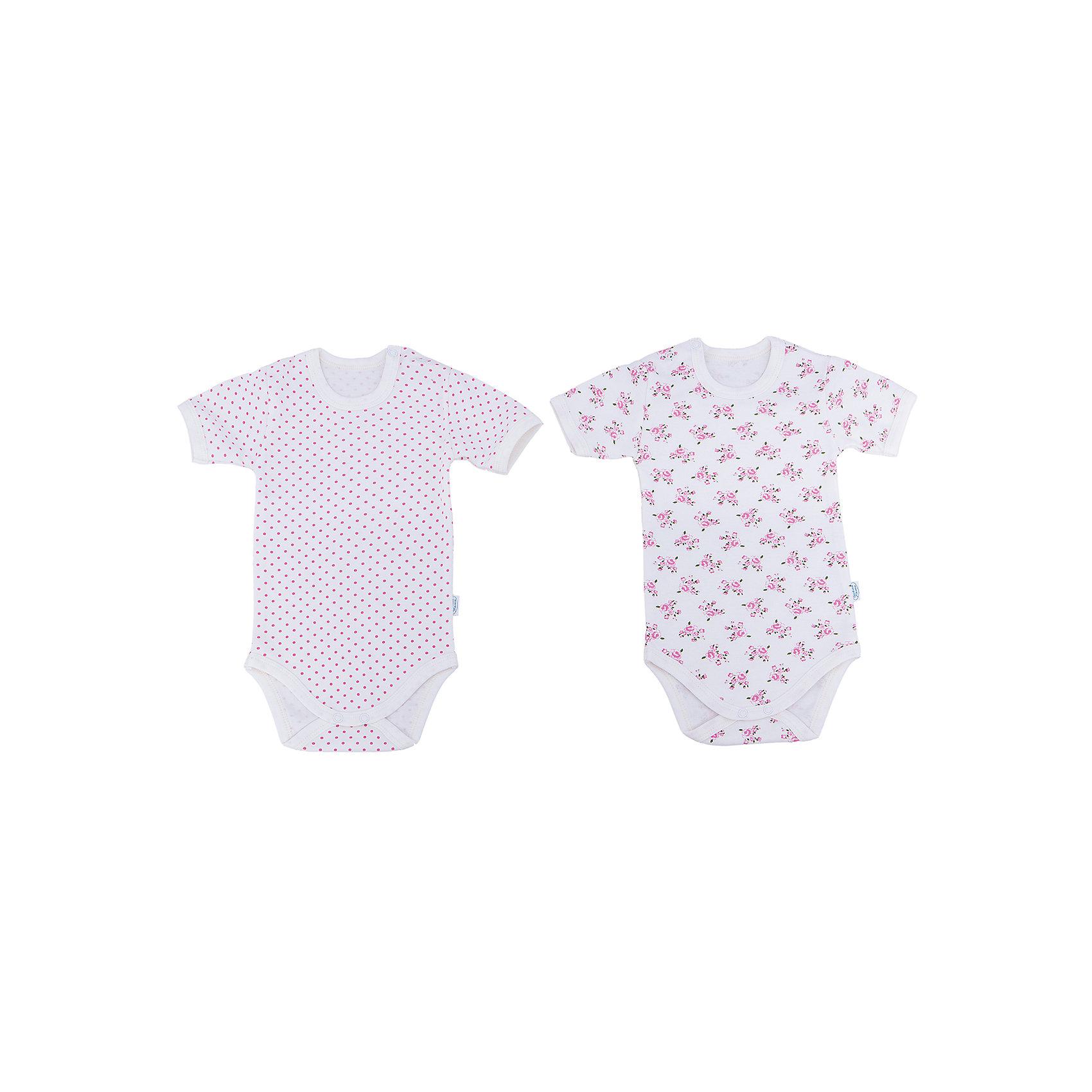 Боди для девочки, 2 шт. Веселый малышБоди<br>Одежда для малышей должна быть удобной и качественной - это один из необходимых факторов для правильного развития и хорошего самочувствия ребенка.<br>Эти боди отличаются высоким качеством швов, окантовкой краёв изделия, что позволяет им хорошо фиксироваться на теле малыша, не сползать и не натирать. Застежки - удобные кнопки, которые не мешают ребенку. Материал - интерлок. Это плотная ткань из натурального хлопка, гладкая, приятная на ощупь, дышащая и гипоаллергенная. Расцветка изделий позволяет легко комбинировать их с различной одеждой. В наборе - два боди разных цветов.<br><br>Дополнительная информация:<br><br>материал: 100% хлопок интерлок;<br>застежки: кнопки;<br>короткий рукав;<br>комплектация: 2 боди.<br><br>Комплект боди от бренда Веселый малыш можно купить в нашем магазине.<br><br>Ширина мм: 157<br>Глубина мм: 13<br>Высота мм: 119<br>Вес г: 200<br>Цвет: бежевый<br>Возраст от месяцев: 6<br>Возраст до месяцев: 9<br>Пол: Женский<br>Возраст: Детский<br>Размер: 74,62,68,80<br>SKU: 4810188