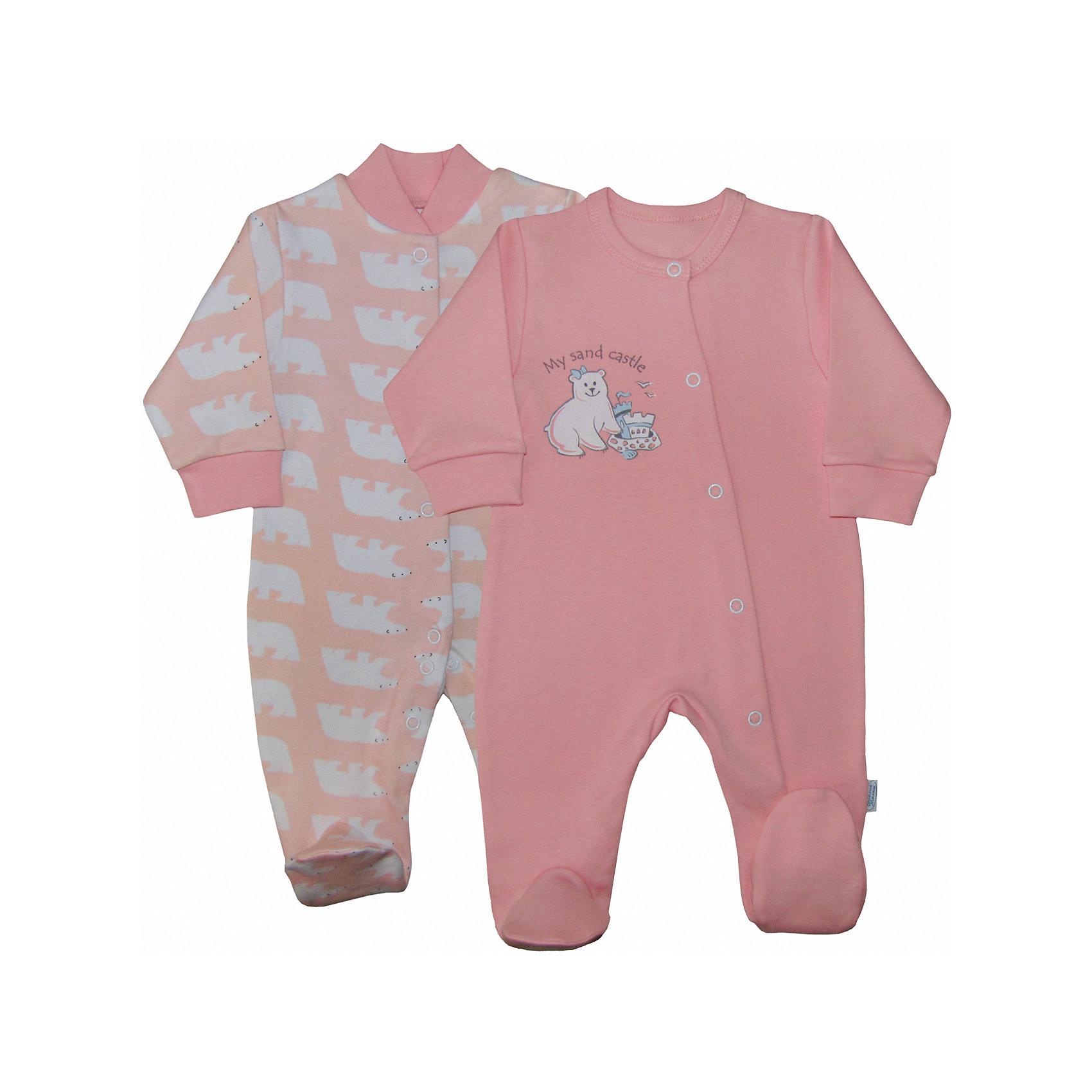 Веселый малыш Комбинезон для девочки,2 шт. Веселый малыш веселый малыш футболка для девочки веселый малыш