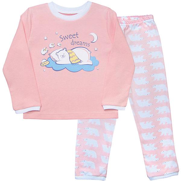 Пижама для девочки Веселый малышПижамы и сорочки<br>На удобство пижамы ребенка нужно обратить особое внимание. Домашняя одежда для малышей должна быть удобной и качественной - это один из необходимых факторов для правильного развития и хорошего самочувствия ребенка.<br>Эта пижама отличается высоким качеством швов, продуманным кроем, что позволяет ей хорошо фиксироваться на теле малыша, не сползать и не натирать. Материал - интерлок. Это плотная ткань из натурального хлопка, гладкая, приятная на ощупь, дышащая и гипоаллергенная. Комплект состоит из штанишек и футболки с длинным рукавом.<br><br>Дополнительная информация:<br><br>материал: 100% хлопок интерлок;<br>украшена принтом;<br>комплектация: штаны, футболка с длинным рукавом.<br><br>Пижаму от бренда Веселый малыш можно купить в нашем магазине.<br><br>Ширина мм: 281<br>Глубина мм: 70<br>Высота мм: 188<br>Вес г: 295<br>Цвет: розовый<br>Возраст от месяцев: 48<br>Возраст до месяцев: 60<br>Пол: Женский<br>Возраст: Детский<br>Размер: 110,104,116,86,92,98<br>SKU: 4810379
