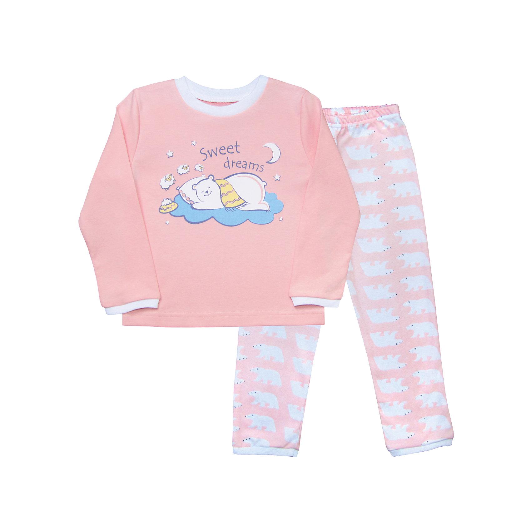 Пижама для девочки Веселый малышПижамы и сорочки<br>На удобство пижамы ребенка нужно обратить особое внимание. Домашняя одежда для малышей должна быть удобной и качественной - это один из необходимых факторов для правильного развития и хорошего самочувствия ребенка.<br>Эта пижама отличается высоким качеством швов, продуманным кроем, что позволяет ей хорошо фиксироваться на теле малыша, не сползать и не натирать. Материал - интерлок. Это плотная ткань из натурального хлопка, гладкая, приятная на ощупь, дышащая и гипоаллергенная. Комплект состоит из штанишек и футболки с длинным рукавом.<br><br>Дополнительная информация:<br><br>материал: 100% хлопок интерлок;<br>украшена принтом;<br>комплектация: штаны, футболка с длинным рукавом.<br><br>Пижаму от бренда Веселый малыш можно купить в нашем магазине.<br><br>Ширина мм: 281<br>Глубина мм: 70<br>Высота мм: 188<br>Вес г: 295<br>Цвет: розовый<br>Возраст от месяцев: 60<br>Возраст до месяцев: 72<br>Пол: Женский<br>Возраст: Детский<br>Размер: 116,104,98,92,86,110<br>SKU: 4810379