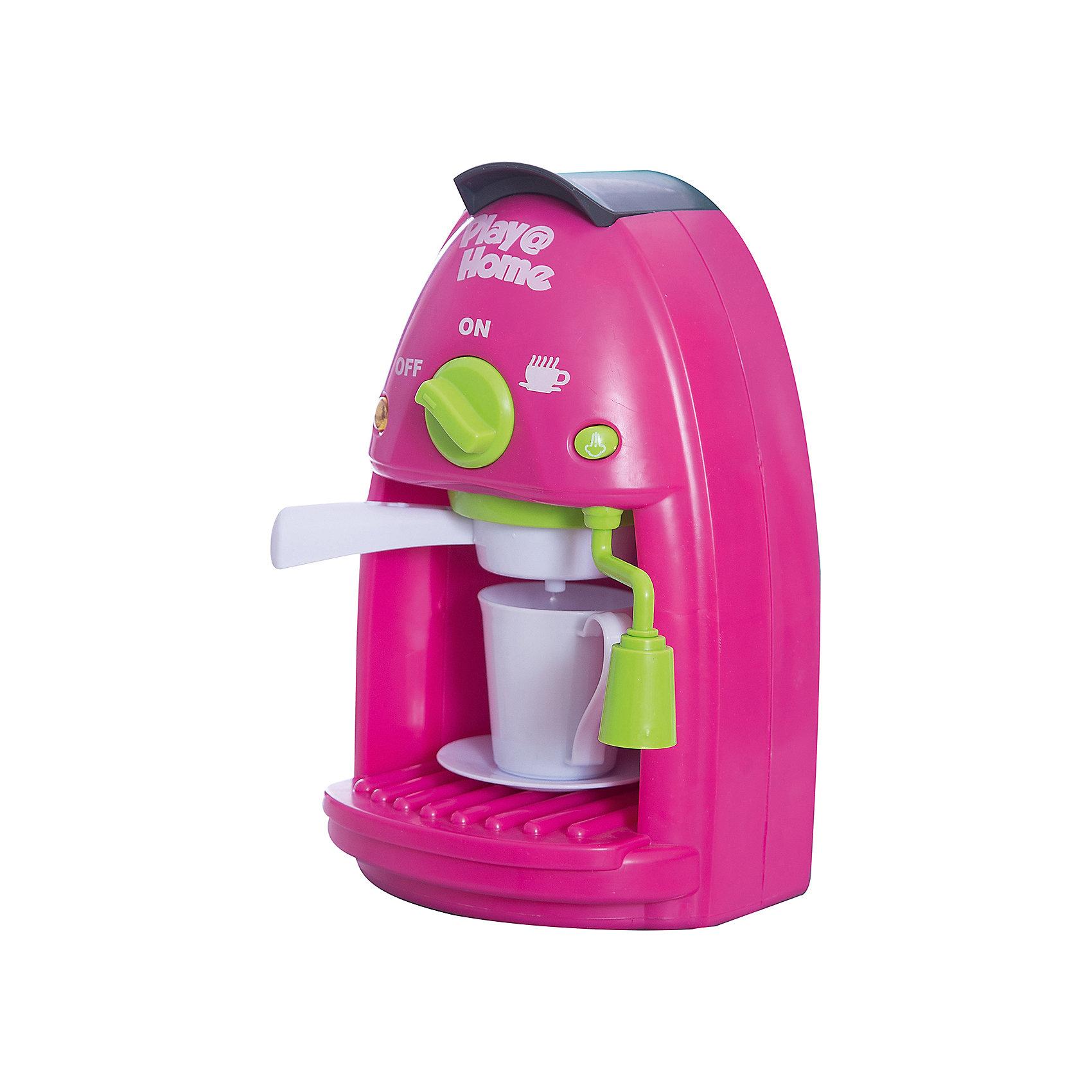Кофеварка (Try Me), KeenwayИгрушечная бытовая техника<br>Кофеварка от Keenway - отличный подарок ребенку. Это красочная игрушка, которая обязательно понравится девочке. Она выполнена в виде кофеварки и набора посуды. Для большей реалистичности она оснащена звуковыми и световыми эффектами. Замечательный игровой набор надолго увлечет девочку!<br>Игрушка по габаритам идеально подходит для маленьких ручек малыша. Весит совсем немного. Такие игрушки помогают развить мелкую моторику, логическое мышление и воображение ребенка. Эта игрушка выполнена из высококачественного прочного пластика, безопасного для детей.<br>  <br>Дополнительная информация:<br><br>цвет: разноцветный;<br>материал: пластик;<br>размер упаковки:  20,32 х 11,43 х 26,04 см;<br>батарейки: 3ХхАА, в комплекте;<br>комплектация: кофеварка, чашка и блюдце;<br>вес: 550 г.<br><br>Кофеварку от компании Keenway можно купить в нашем магазине.<br><br>Ширина мм: 108<br>Глубина мм: 285<br>Высота мм: 152<br>Вес г: 550<br>Возраст от месяцев: 36<br>Возраст до месяцев: 120<br>Пол: Женский<br>Возраст: Детский<br>SKU: 4810967