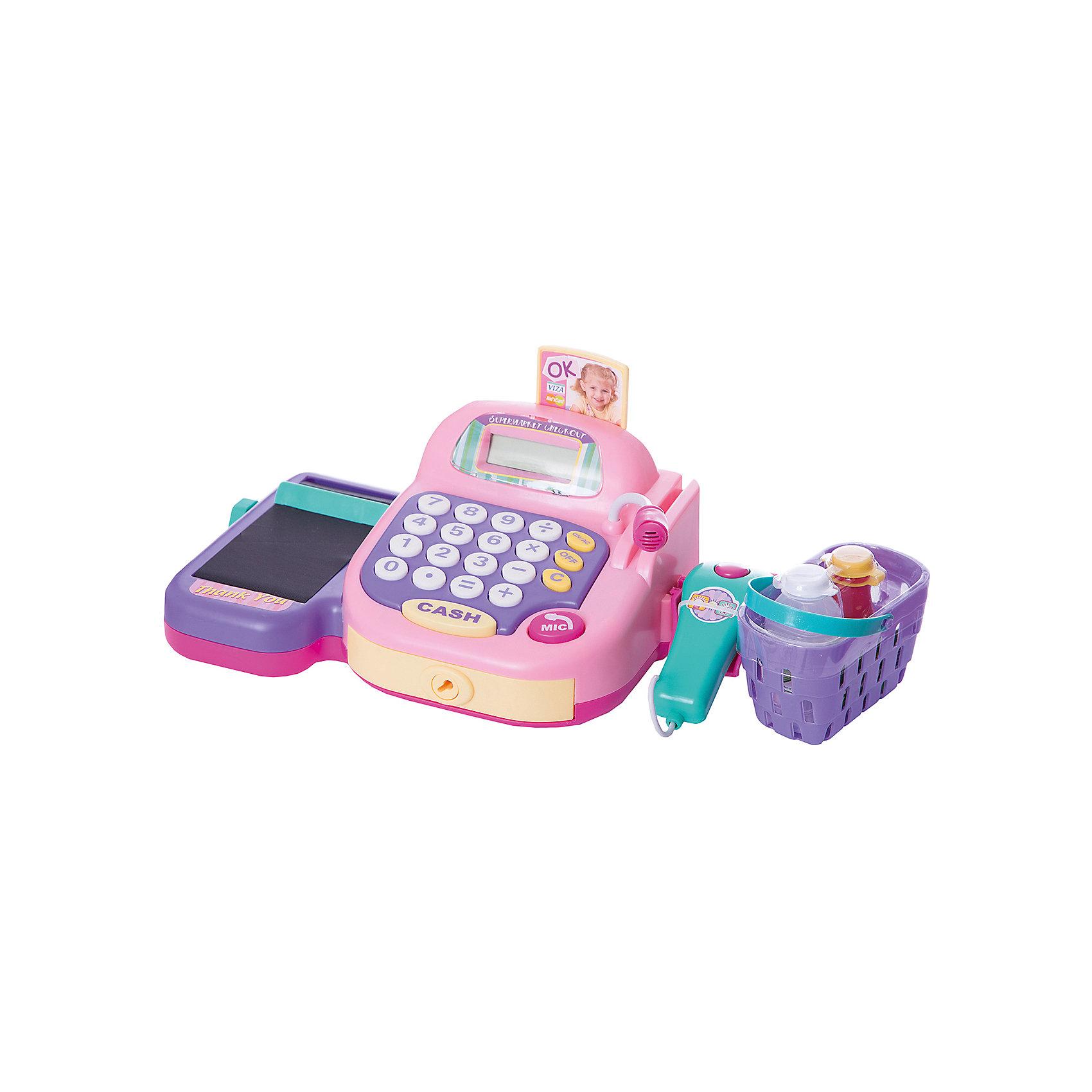 Keenway Набор Супермаркет: кассовый аппарат,продукты, со светом , звуком, Keenway keenway касса 30262 pink