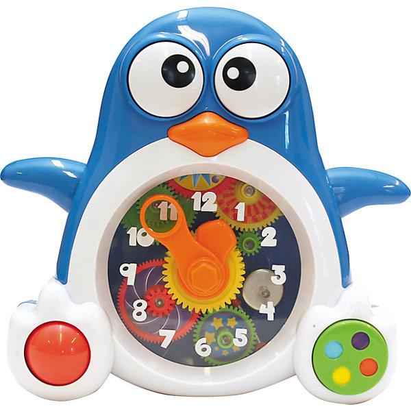 Пингвиненок-часы, KeenwayРазвивающие центры<br>Игрушка Пингвиненок-часы от  Keenway - отличный подарок ребенку. Это красочная игрушка, которая обязательно понравится малышу. Она выполнена в виде веселого пингвиненка! Он дополнен звуковыми и световыми эффектами, с помощью которых малыш сможет знакомится с окружающим миром в игровой форме!<br>Игрушка по габаритам идеально подходит для маленьких ручек малыша. Весит совсем немного. Такие игрушки помогают развить мелкую моторику, логическое мышление и воображение ребенка. Эта игрушка выполнена из высококачественного прочного пластика, безопасного для детей.<br>  <br>Дополнительная информация:<br><br>цвет: разноцветный;<br>материал: пластик;<br>размер упаковки: 28 x 28 x 91 см;<br>батарейки: 2ХхАА, в комплекте;<br>вес:  715 г.<br><br>Игрушку Пингвиненок-часы от компании Keenway можно купить в нашем магазине.<br>Ширина мм: 380; Глубина мм: 390; Высота мм: 90; Вес г: 936; Возраст от месяцев: 36; Возраст до месяцев: 120; Пол: Унисекс; Возраст: Детский; SKU: 4810977;