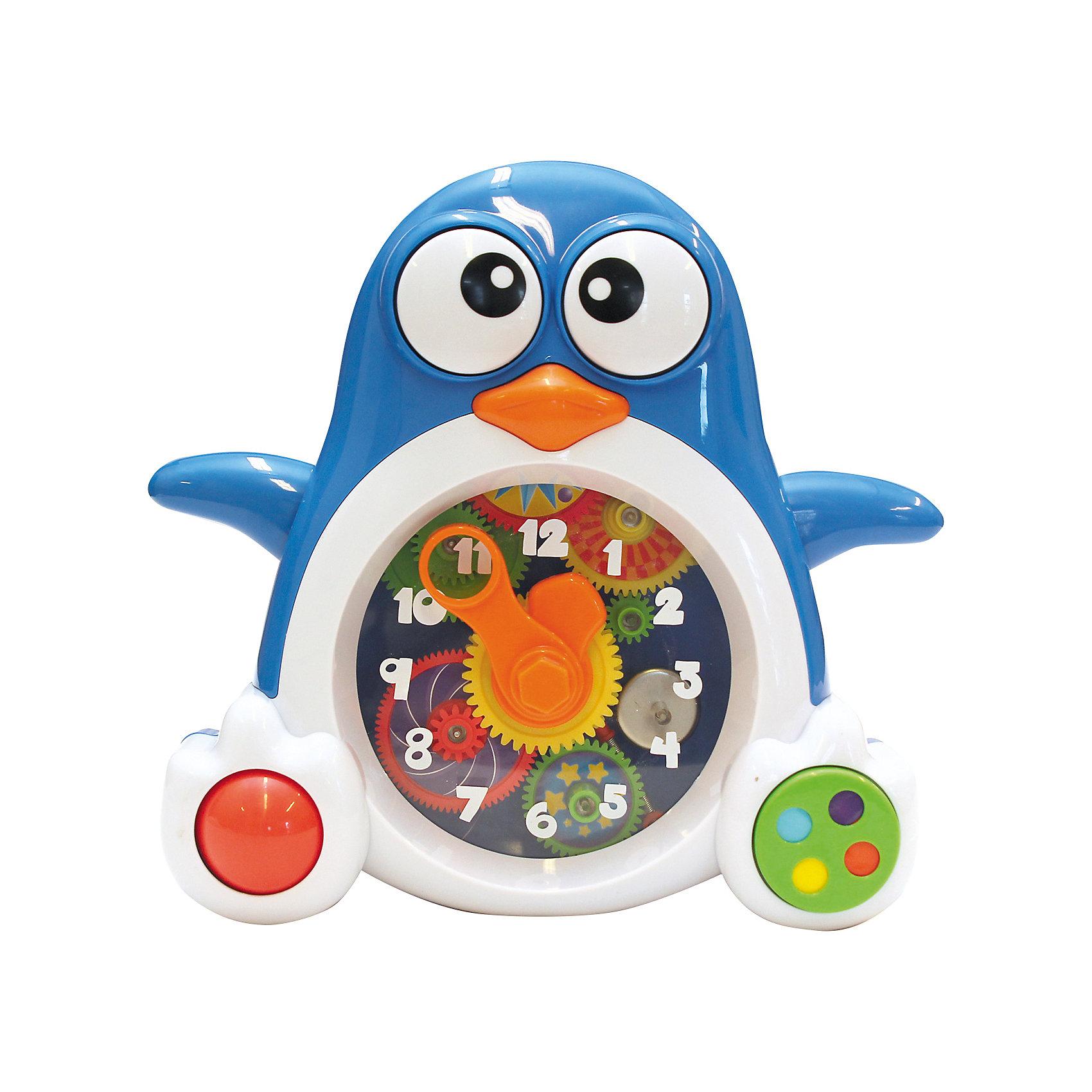 Пингвиненок-часы, KeenwayРазвивающие игрушки<br>Игрушка Пингвиненок-часы от  Keenway - отличный подарок ребенку. Это красочная игрушка, которая обязательно понравится малышу. Она выполнена в виде веселого пингвиненка! Он дополнен звуковыми и световыми эффектами, с помощью которых малыш сможет знакомится с окружающим миром в игровой форме!<br>Игрушка по габаритам идеально подходит для маленьких ручек малыша. Весит совсем немного. Такие игрушки помогают развить мелкую моторику, логическое мышление и воображение ребенка. Эта игрушка выполнена из высококачественного прочного пластика, безопасного для детей.<br>  <br>Дополнительная информация:<br><br>цвет: разноцветный;<br>материал: пластик;<br>размер упаковки: 28 x 28 x 91 см;<br>батарейки: 2ХхАА, в комплекте;<br>вес:  715 г.<br><br>Игрушку Пингвиненок-часы от компании Keenway можно купить в нашем магазине.<br><br>Ширина мм: 380<br>Глубина мм: 390<br>Высота мм: 90<br>Вес г: 936<br>Возраст от месяцев: 36<br>Возраст до месяцев: 120<br>Пол: Унисекс<br>Возраст: Детский<br>SKU: 4810977