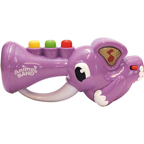 Слоник-трубач, KeenwayДетские музыкальные инструменты<br>Музыкальная игрушка Слоник-трубач от  Keenway - отличный подарок ребенку. Это красочная игрушка, которая обязательно понравится малышу. Она выполнена в виде трубы-слоника. Нажимая на кнопки на хоботе слоника, ребенок услышит веселую песенку или забавные звуки. Причем звуки могут играть одновременно, создавая оркестр.<br>Игрушка по габаритам идеально подходит для маленьких ручек малыша. Весит совсем немного. Такие игрушки помогают развить мелкую моторику, логическое мышление и воображение ребенка. Эта игрушка выполнена из высококачественного прочного пластика, безопасного для детей.<br>  <br>Дополнительная информация:<br><br>цвет: разноцветный;<br>материал: пластик;<br>размер:  270 х 90 х 160 мм;<br>батарейки: 3ХхАА, в комплекте.<br><br>Игрушку Слоник-трубач от компании Keenway можно купить в нашем магазине.<br>Ширина мм: 280; Глубина мм: 140; Высота мм: 190; Вес г: 765; Возраст от месяцев: 36; Возраст до месяцев: 120; Пол: Унисекс; Возраст: Детский; SKU: 4810983;